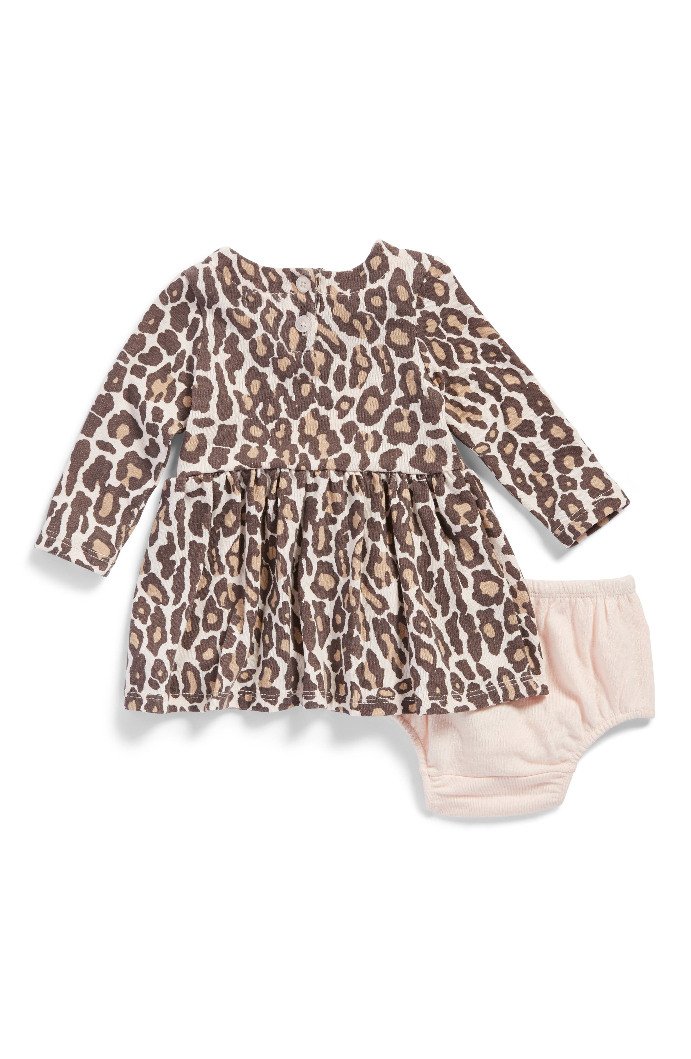 Alternate Image 2  - Splendid Animal Print Knit Dress (Baby Girls)