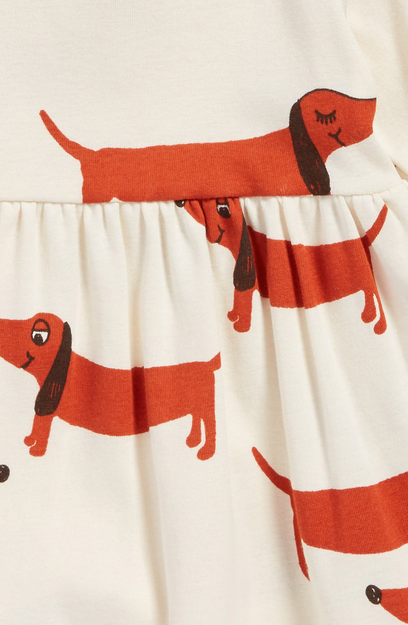 Dogs Organic Cotton Dress,                             Alternate thumbnail 3, color,                             Off White