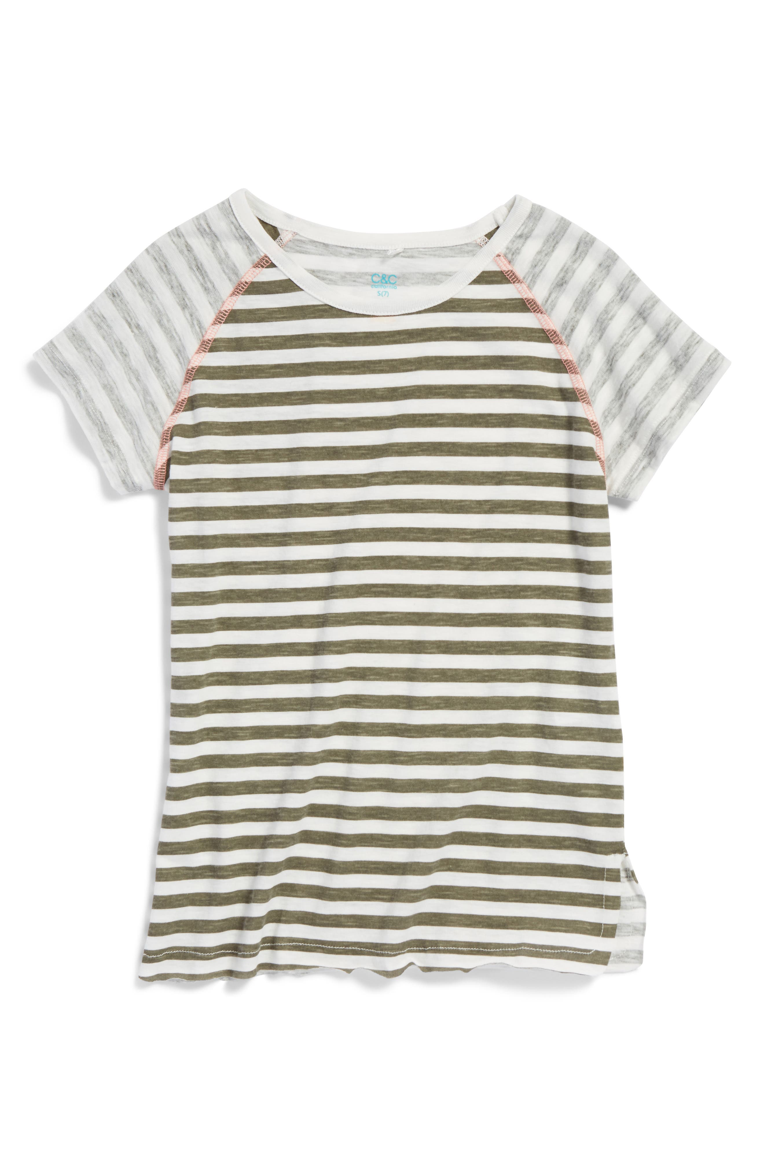 Main Image - C & C California Henley Tee (Big Girls)