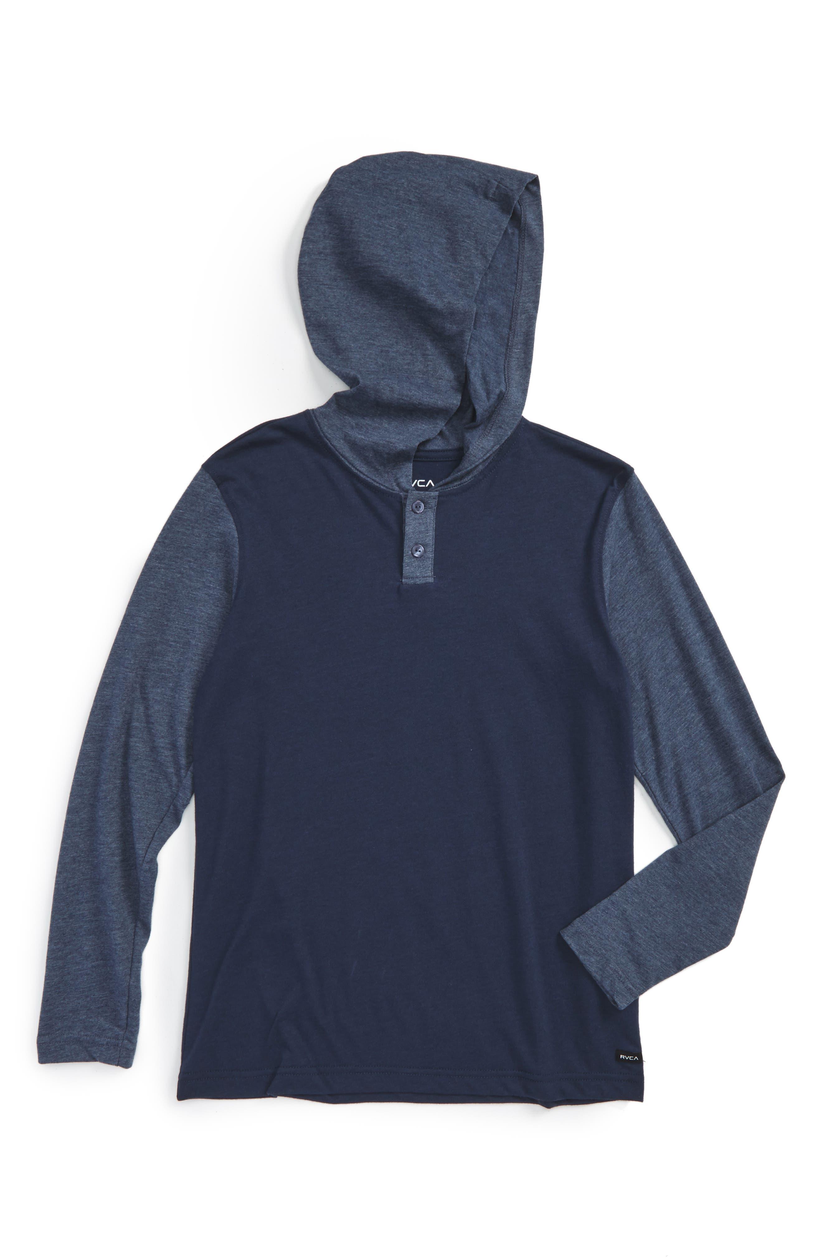 RVCA Pick Up Hooded Henley T-Shirt (Big Boys)