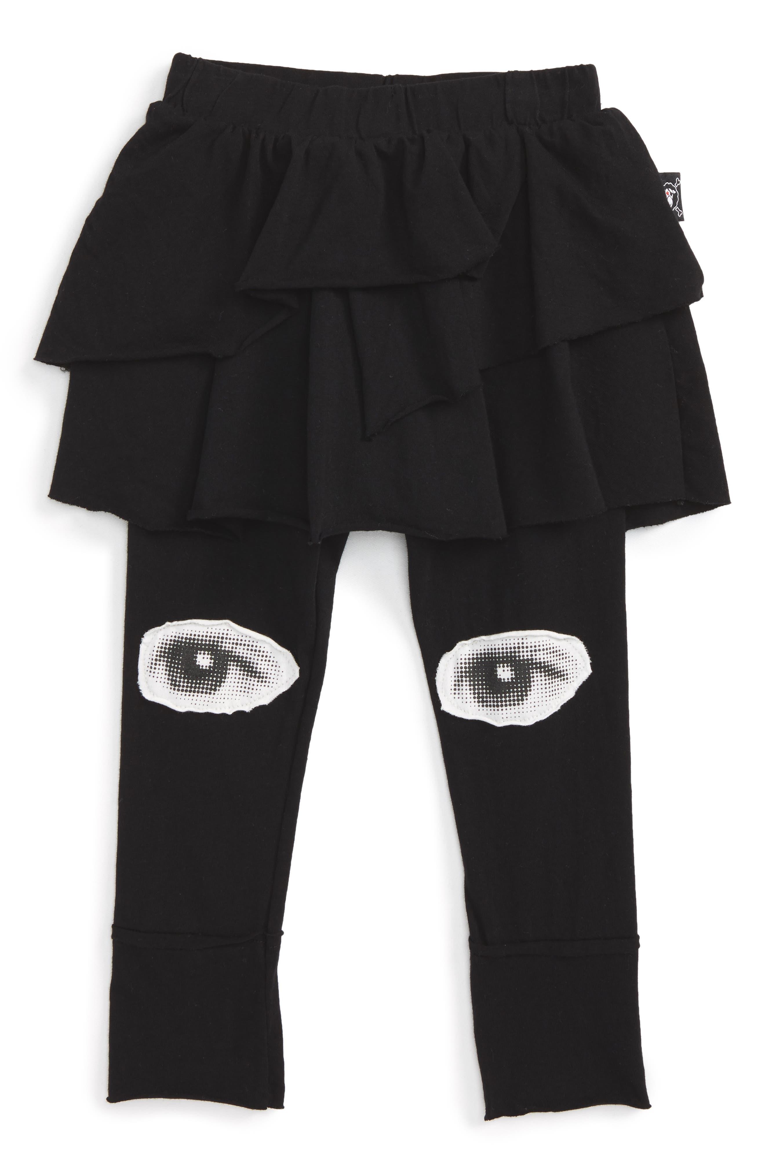 Skirted Eye Leggings,                             Main thumbnail 1, color,                             Black