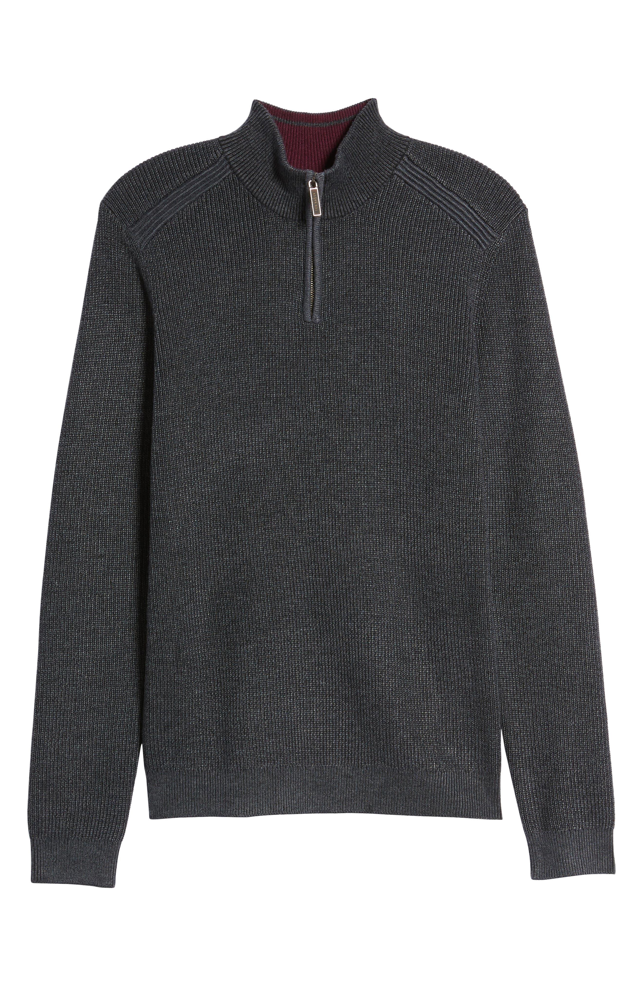 Alternate Image 5  - Ted Baker London Slim Fit Quarter Zip Sweater (Tall)
