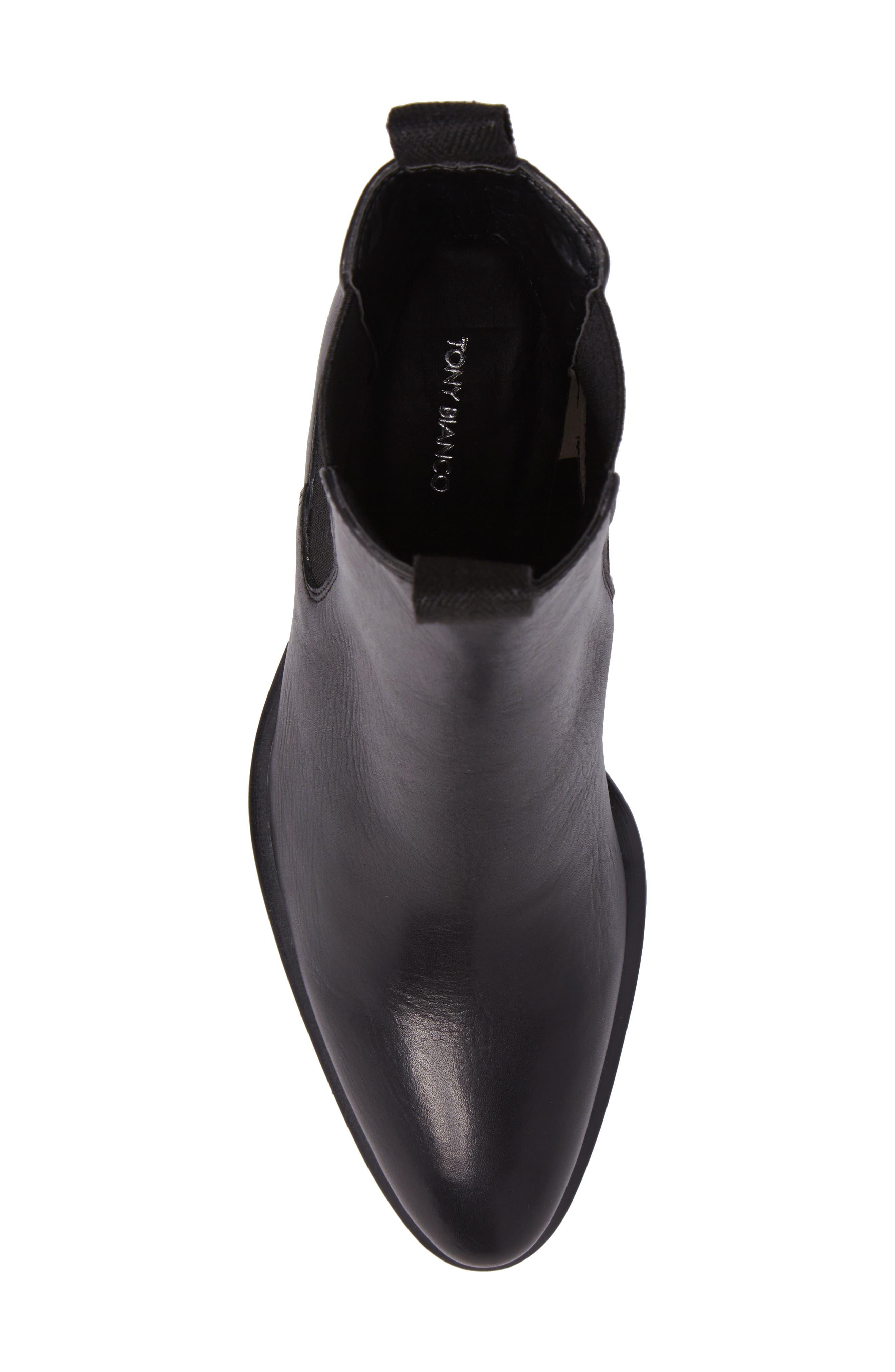 Hampton Bootie,                             Alternate thumbnail 5, color,                             Black Leather
