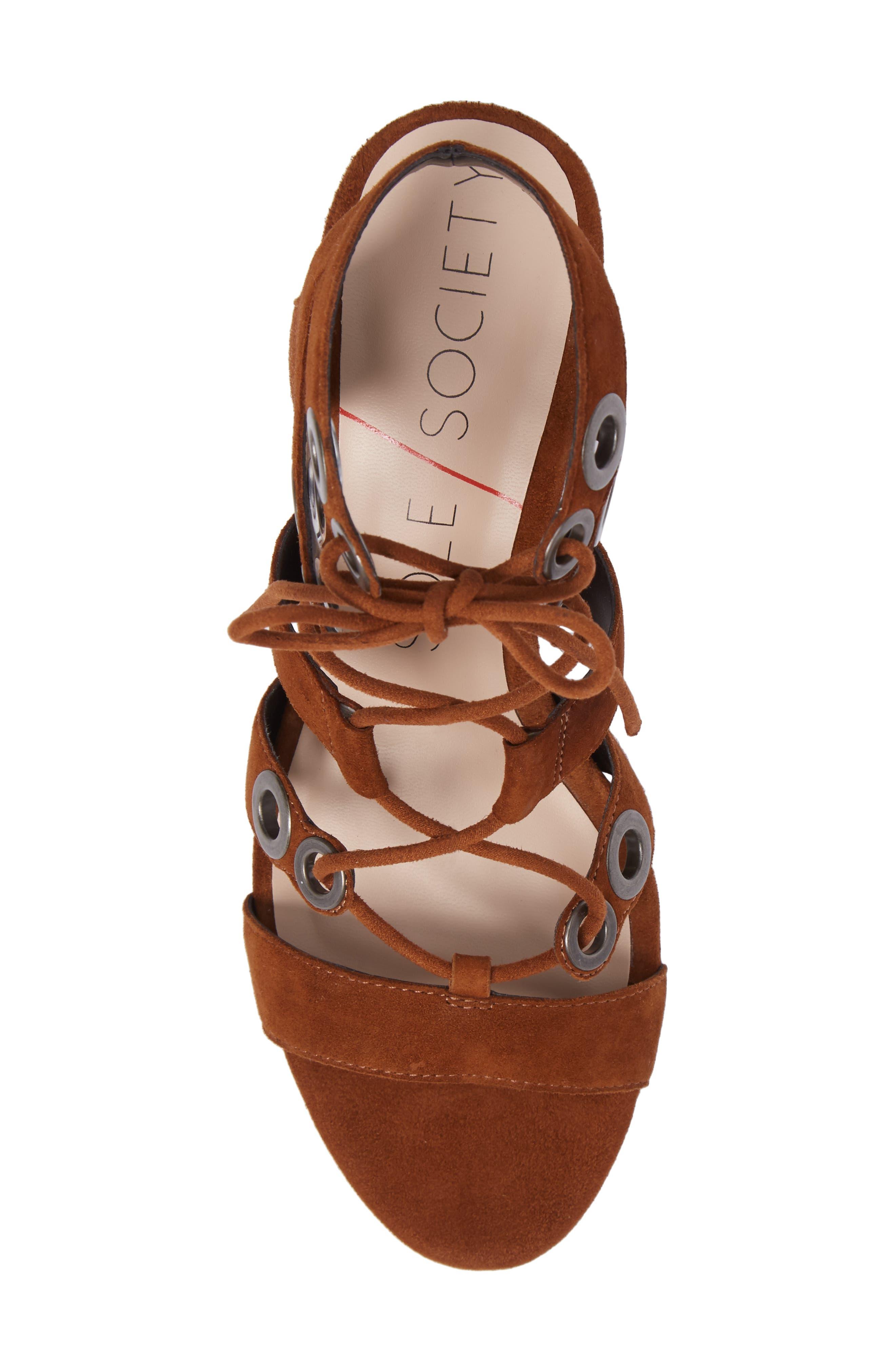 Alternate Image 5  - Sole Society Rosemary Lace-Up Sandal (Women)