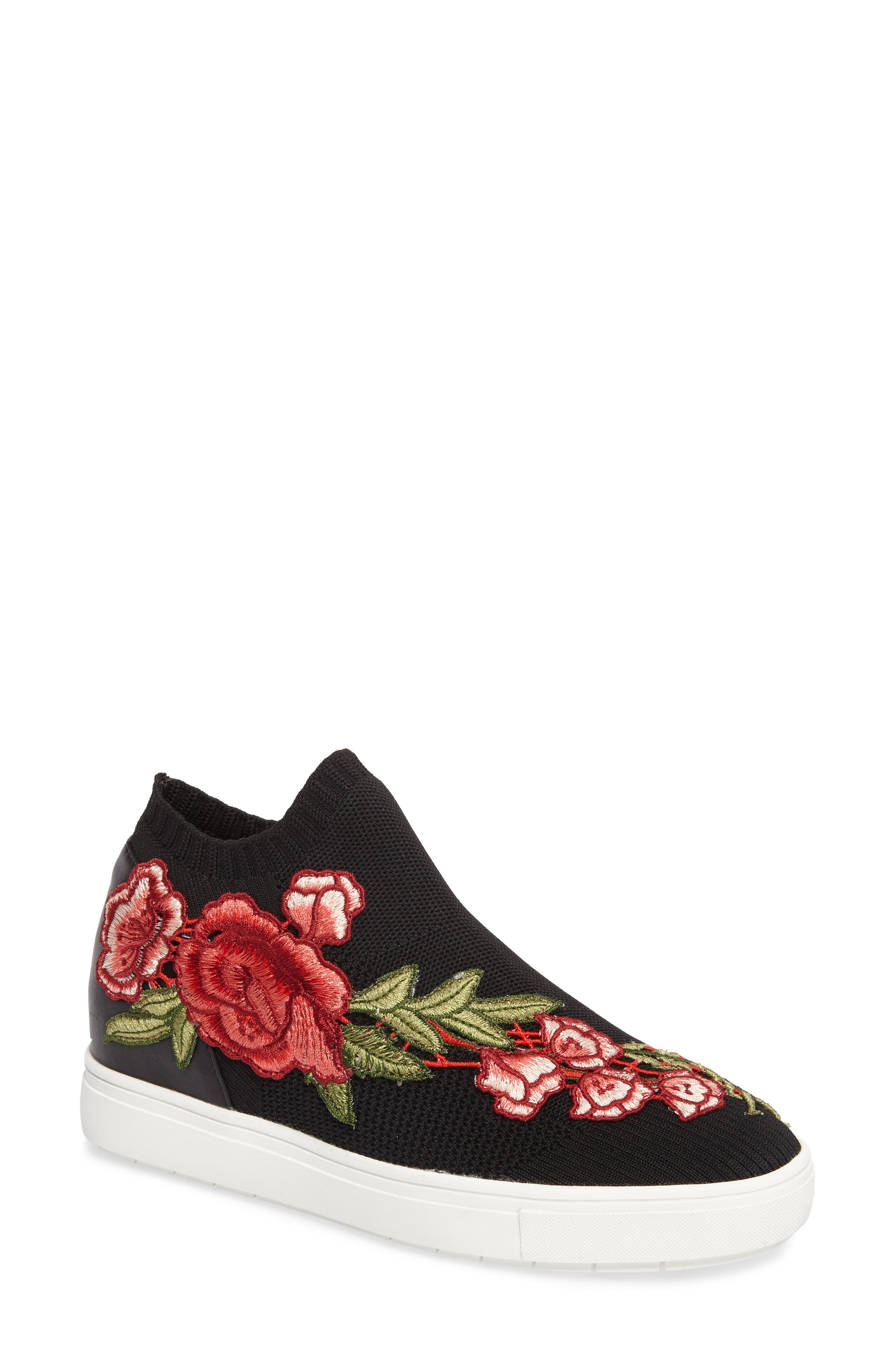 Steve Madden Sly Hidden Wedge Knit Sneaker (Women)