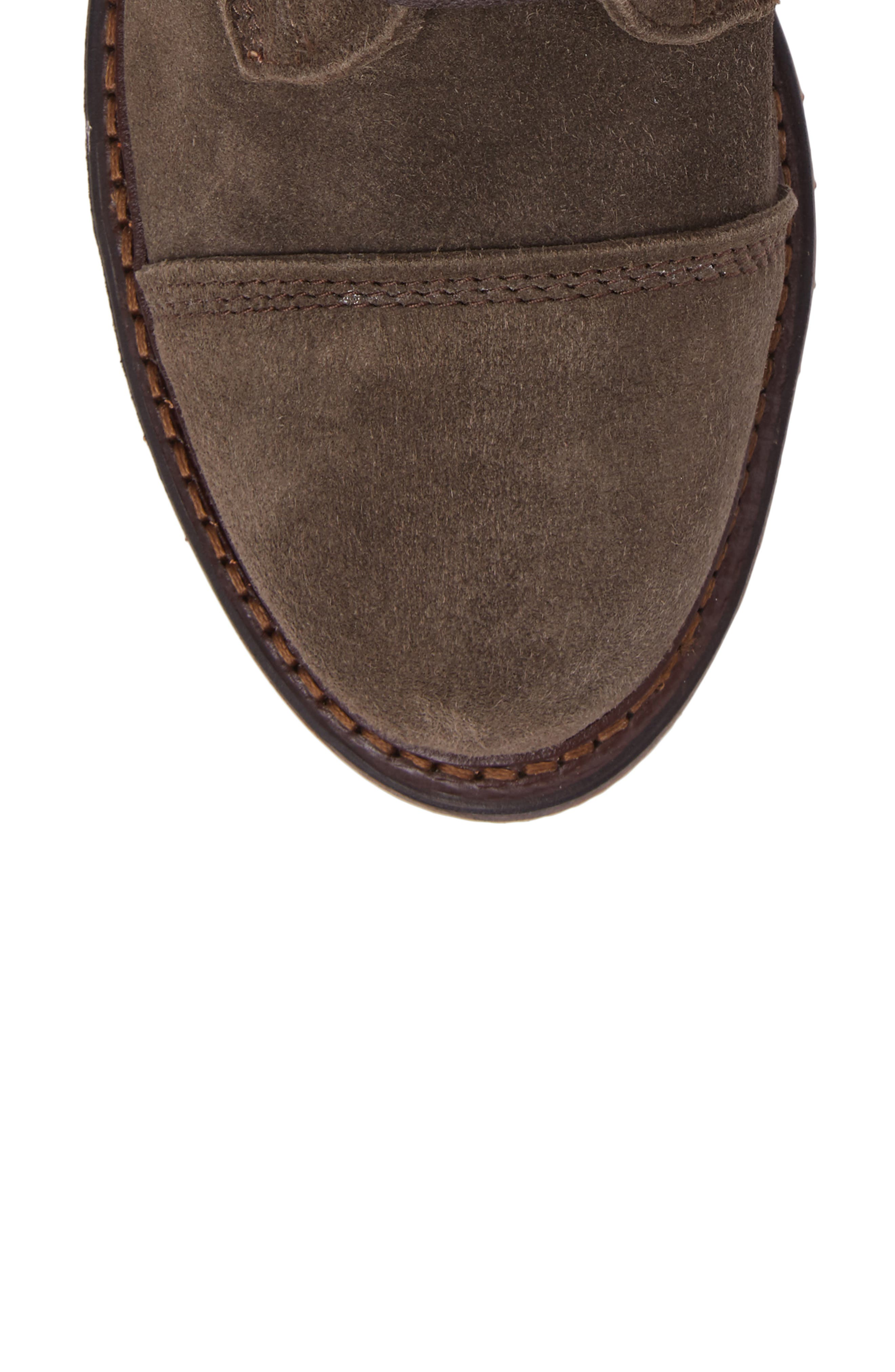 Caen Cap Toe Boot,                             Alternate thumbnail 5, color,                             Taupe Leather