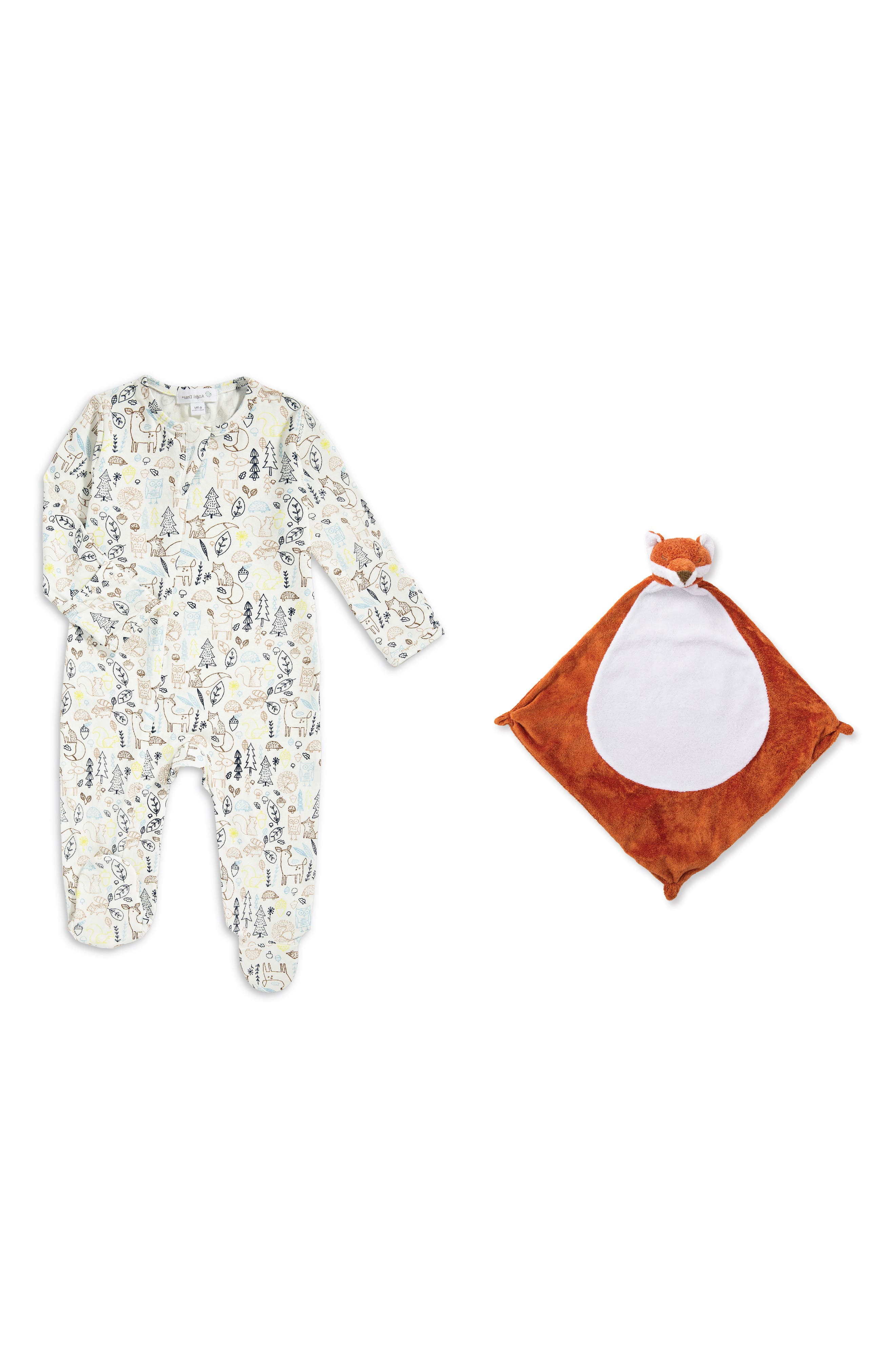Footie & Blankie Set,                         Main,                         color, Woodland Critters