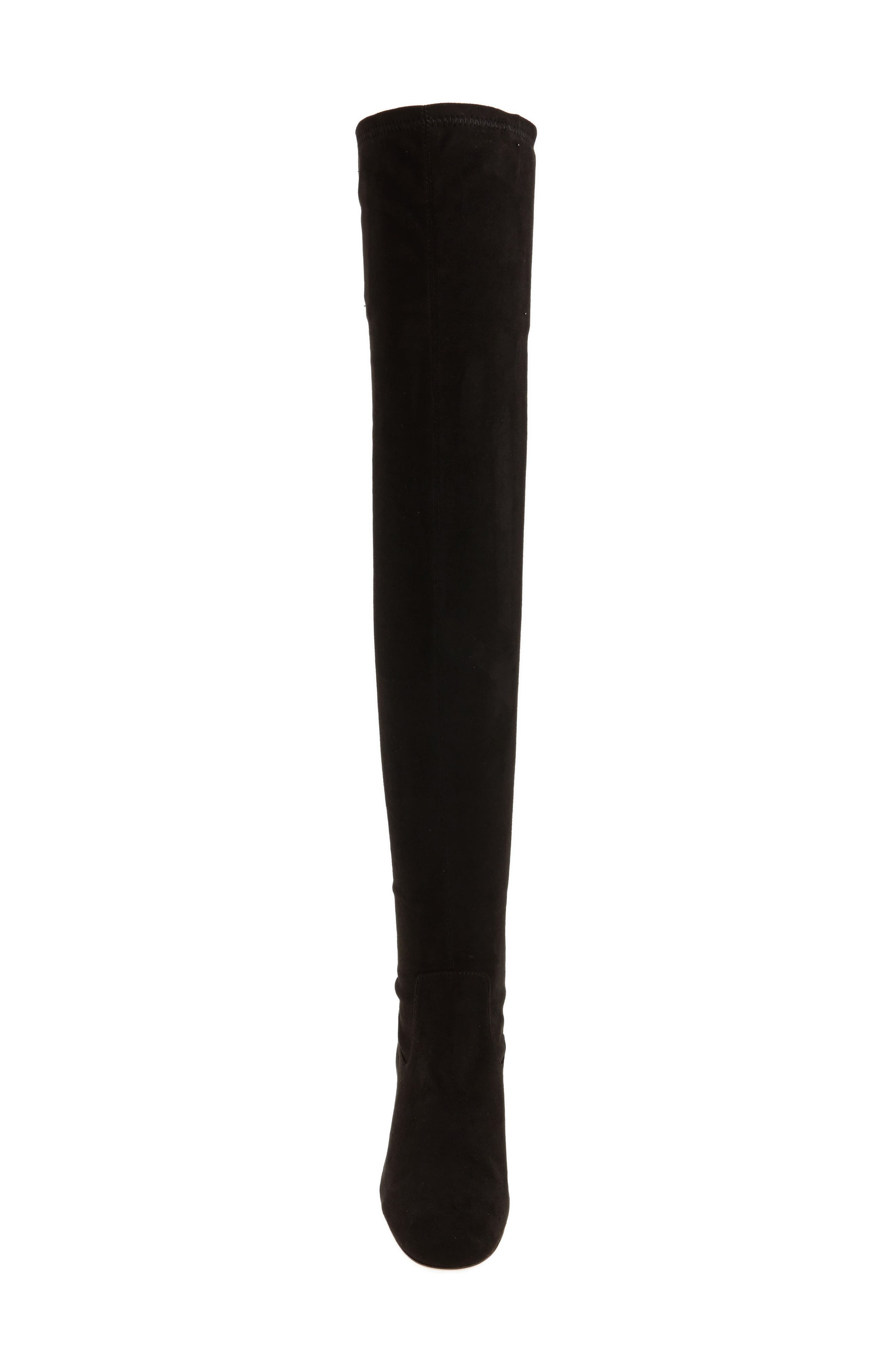 Amani Over the Knee Boot,                             Alternate thumbnail 4, color,                             Black Suede