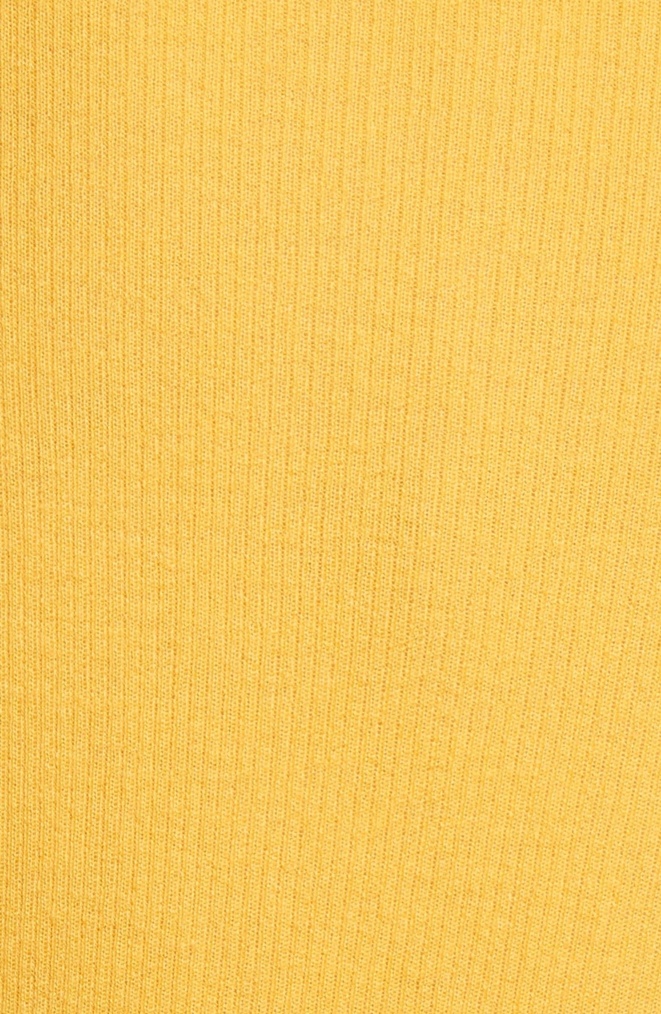 Cashmere Crewneck Sweater,                             Alternate thumbnail 5, color,                             Lemon
