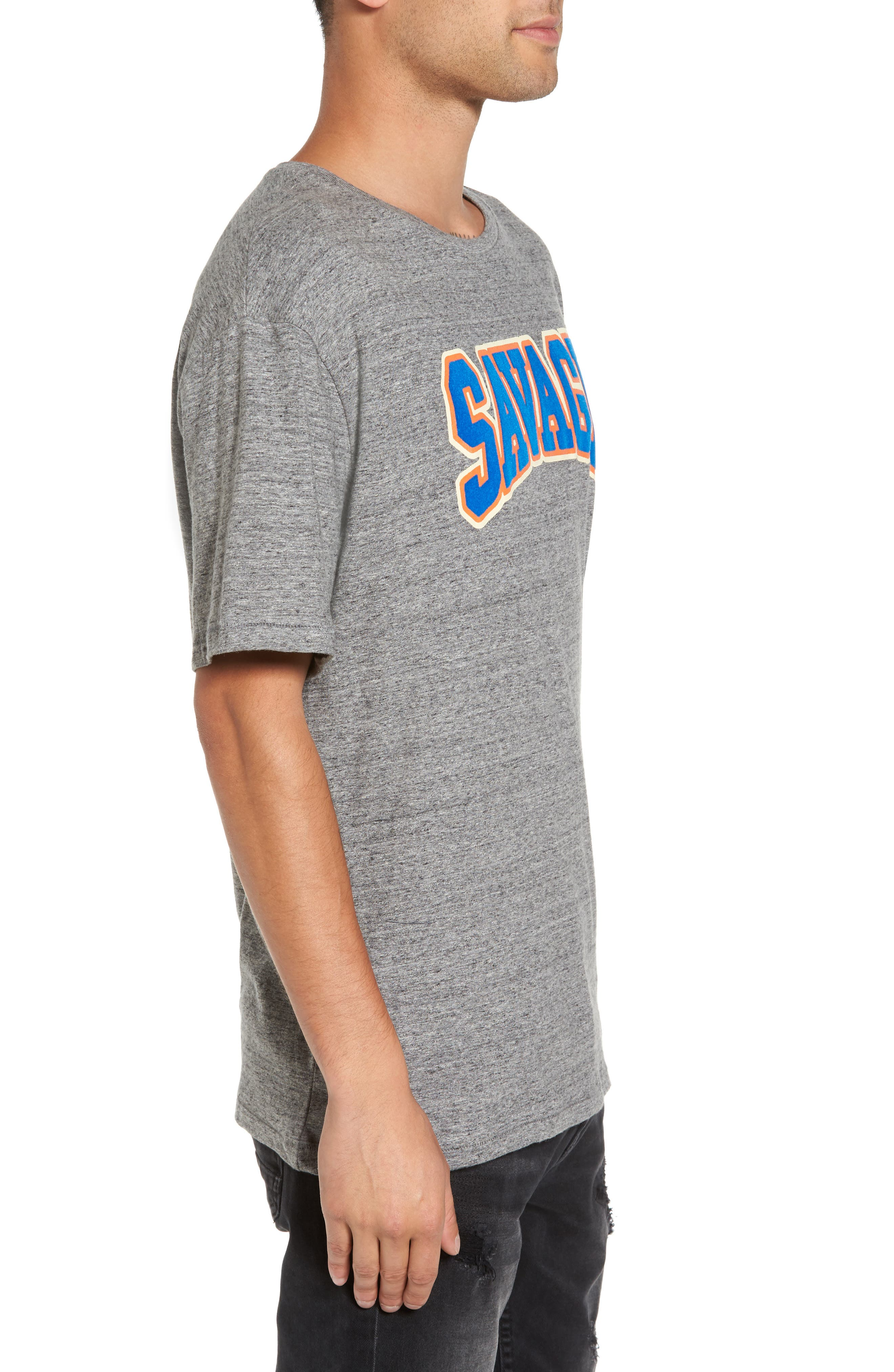 Savage T-Shirt,                             Alternate thumbnail 3, color,                             Grunder Grey