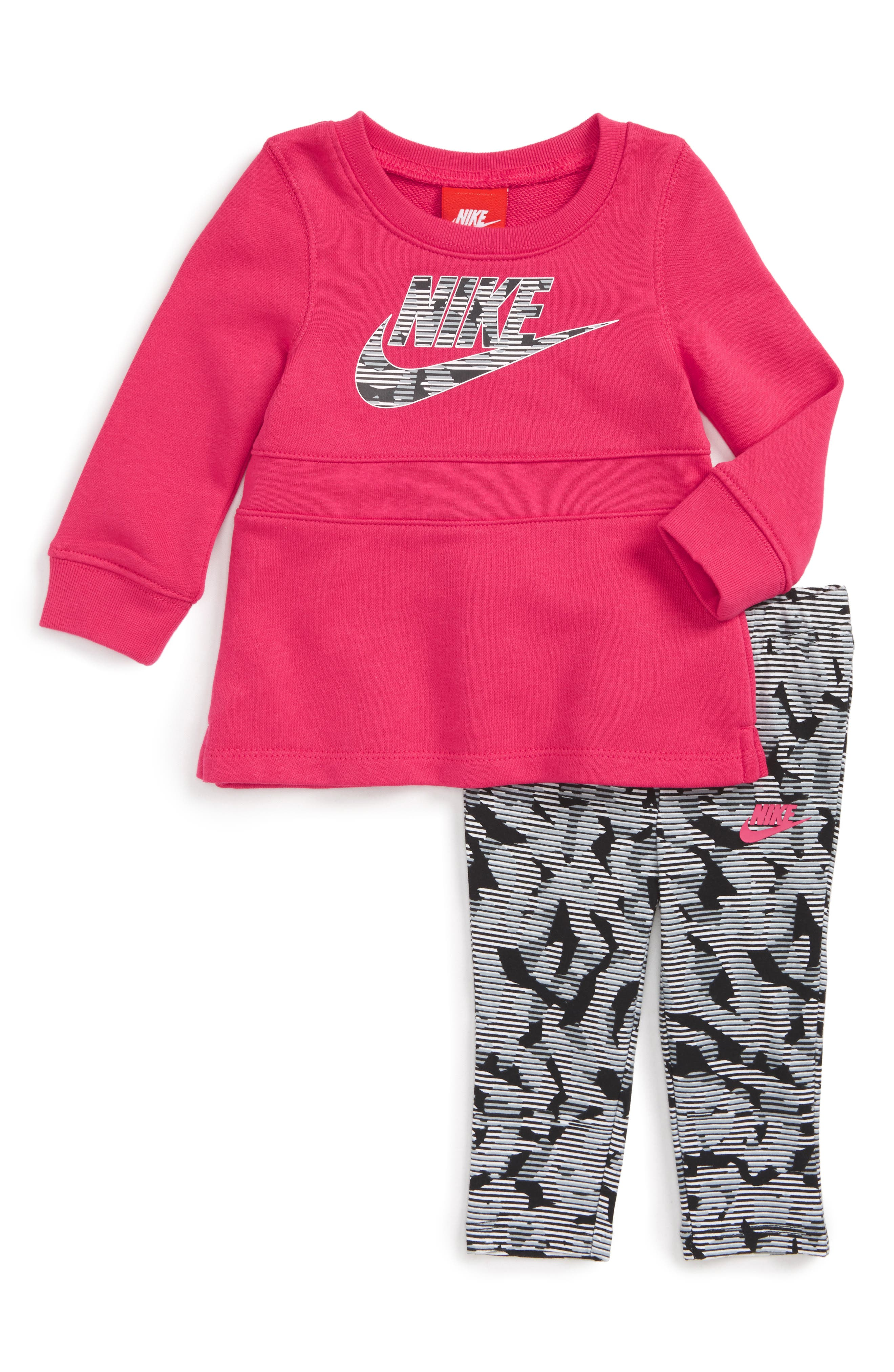 Nike Modern Sweatshirt Dress & Leggings Set (Baby Girls)