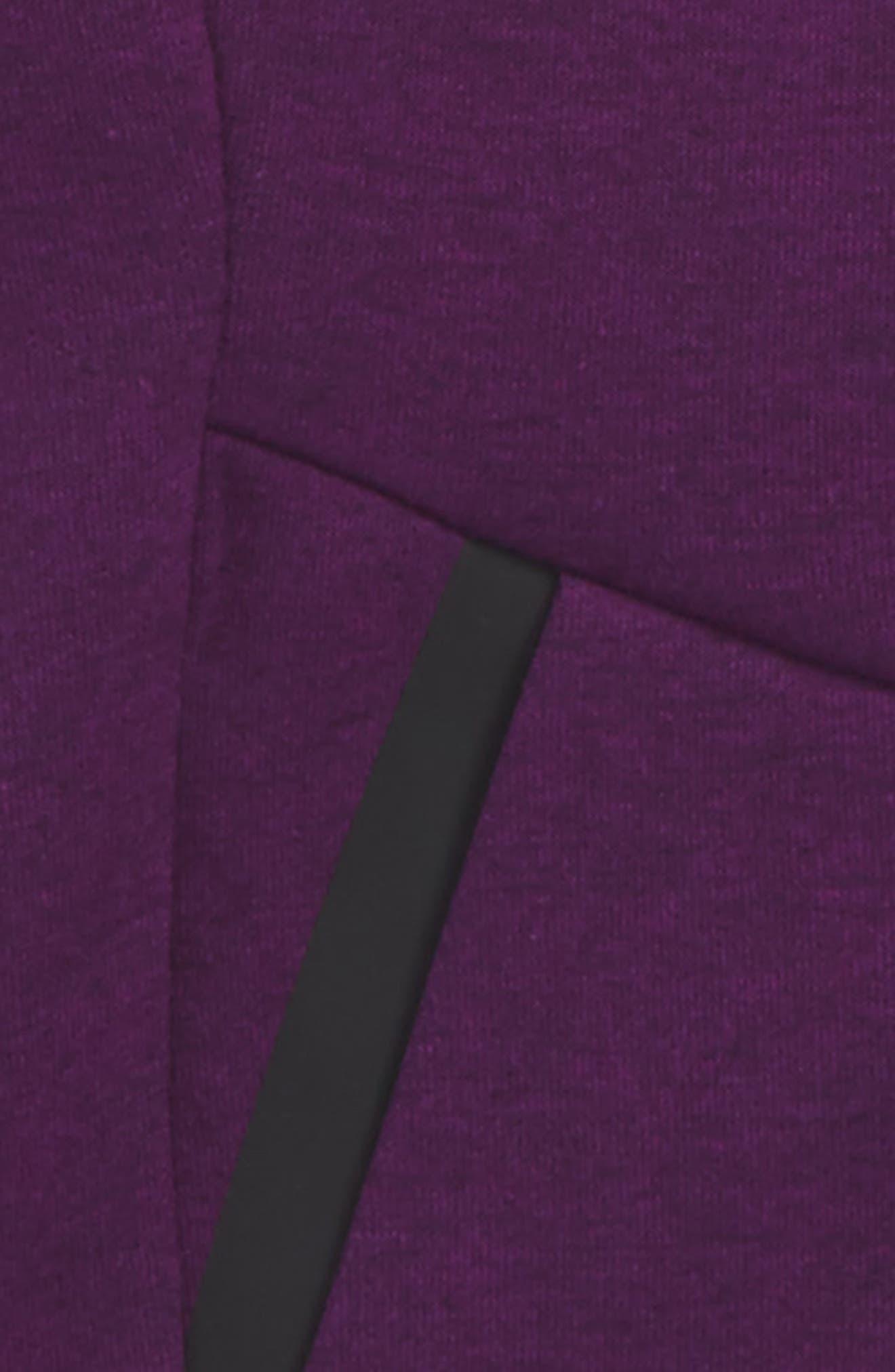 Sportswear Tech Fleece Hoodie,                             Alternate thumbnail 4, color,                             Night Purple/ Black