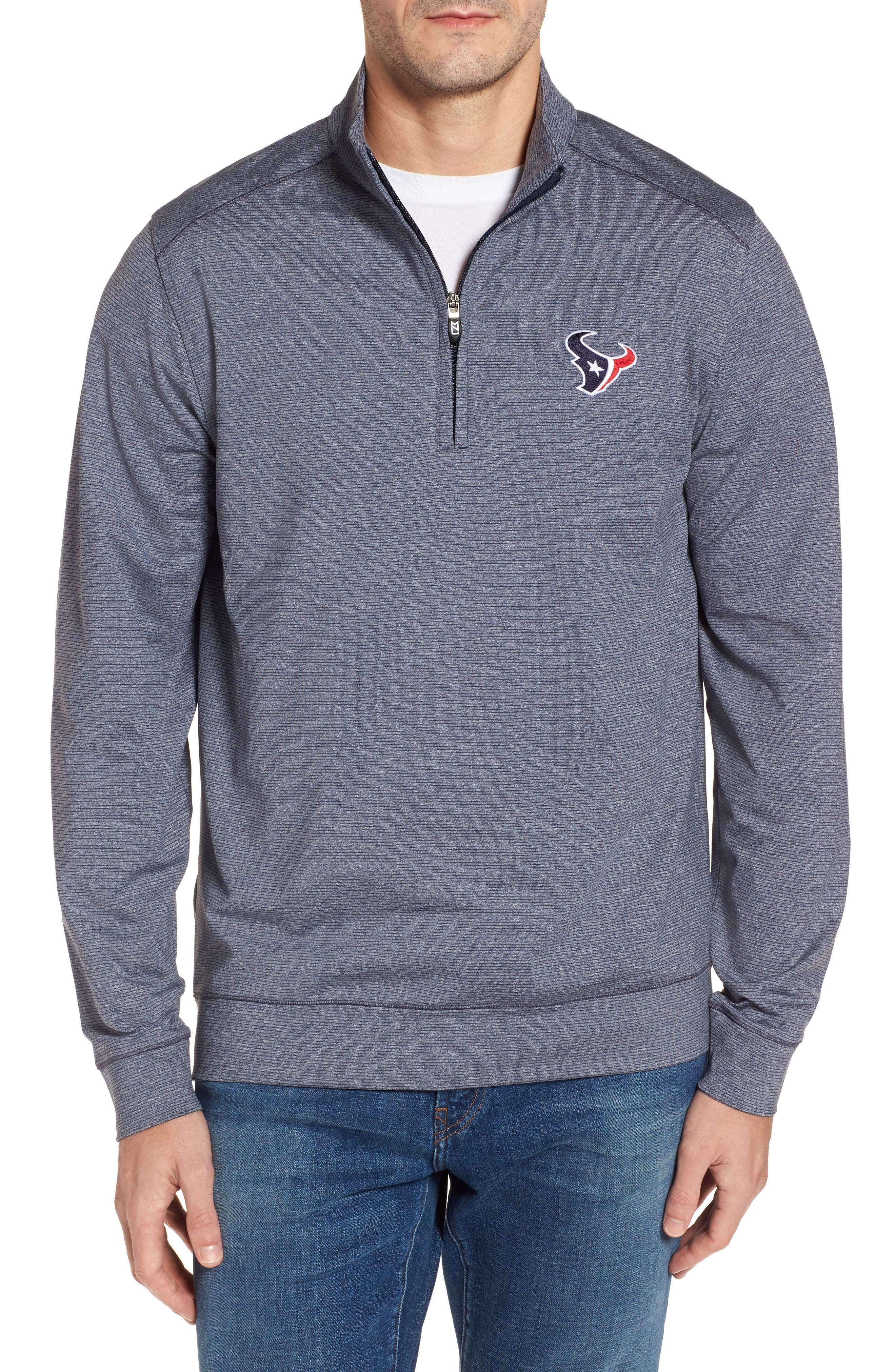 Shoreline - Houston Texans Half Zip Pullover,                         Main,                         color, Liberty Navy Heather