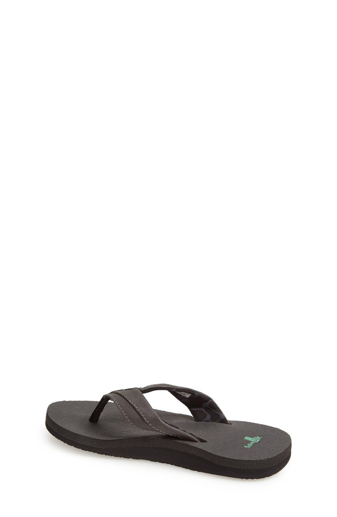 'Rootbeer Cozy' Lightweight Flip Flop Sandal,                             Alternate thumbnail 2, color,                             Black