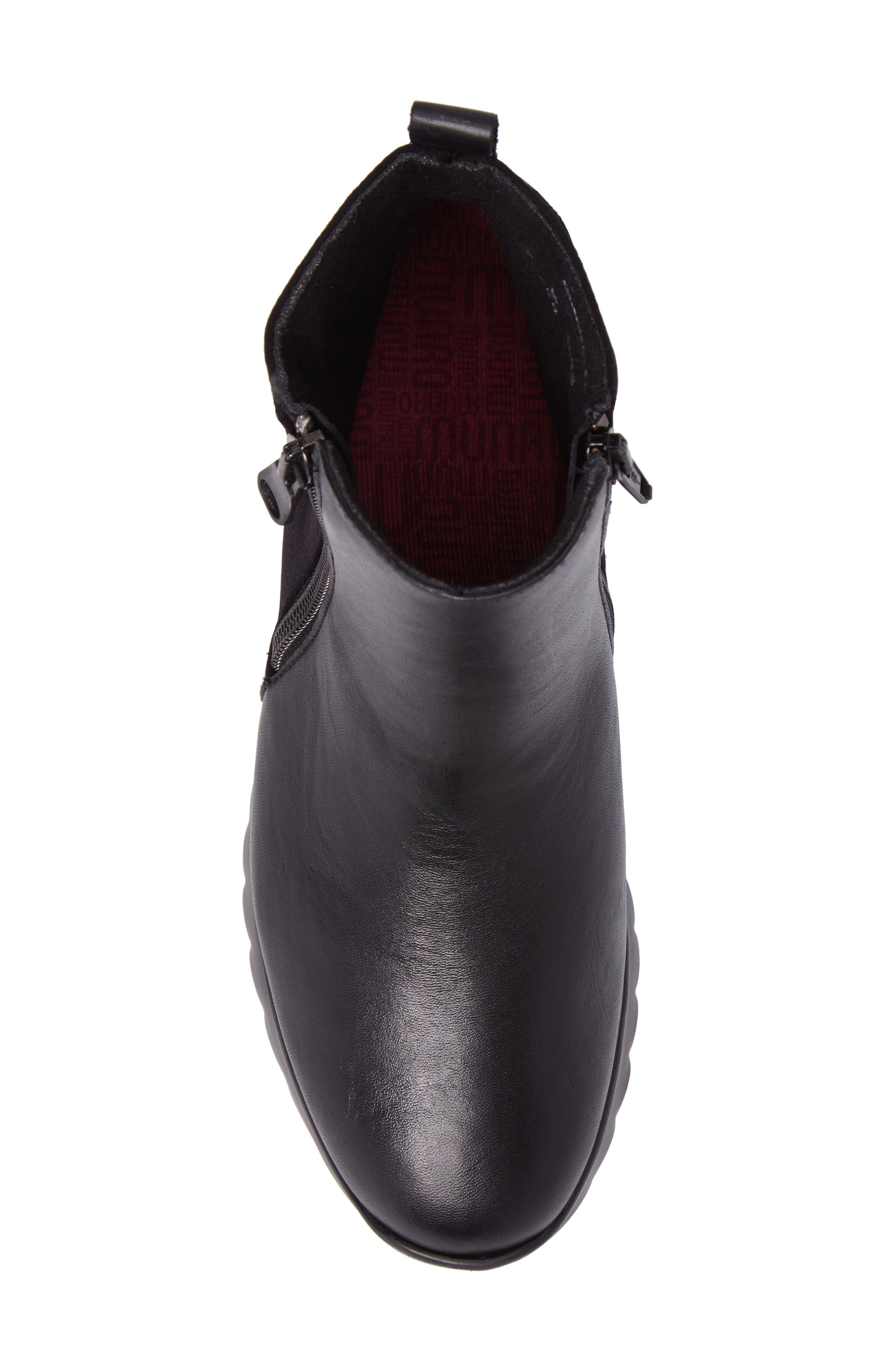 Ashcroft Bootie,                             Alternate thumbnail 5, color,                             Black Leather
