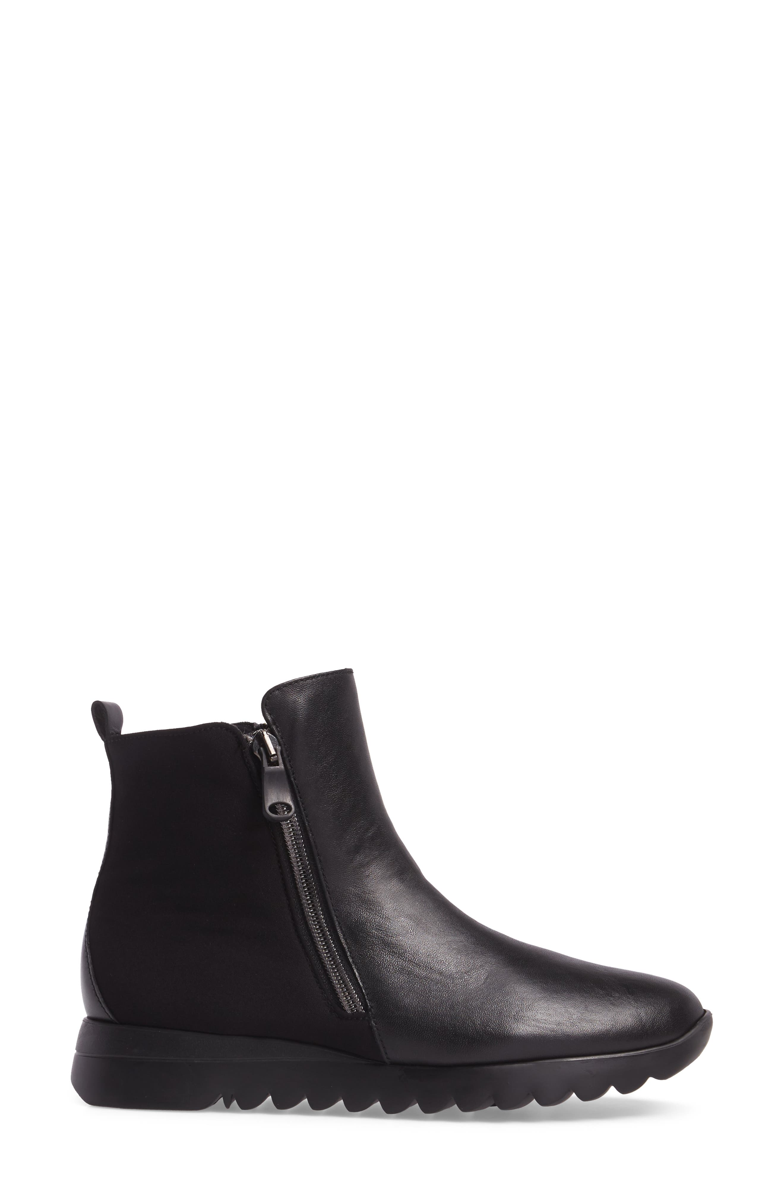 Ashcroft Bootie,                             Alternate thumbnail 3, color,                             Black Leather