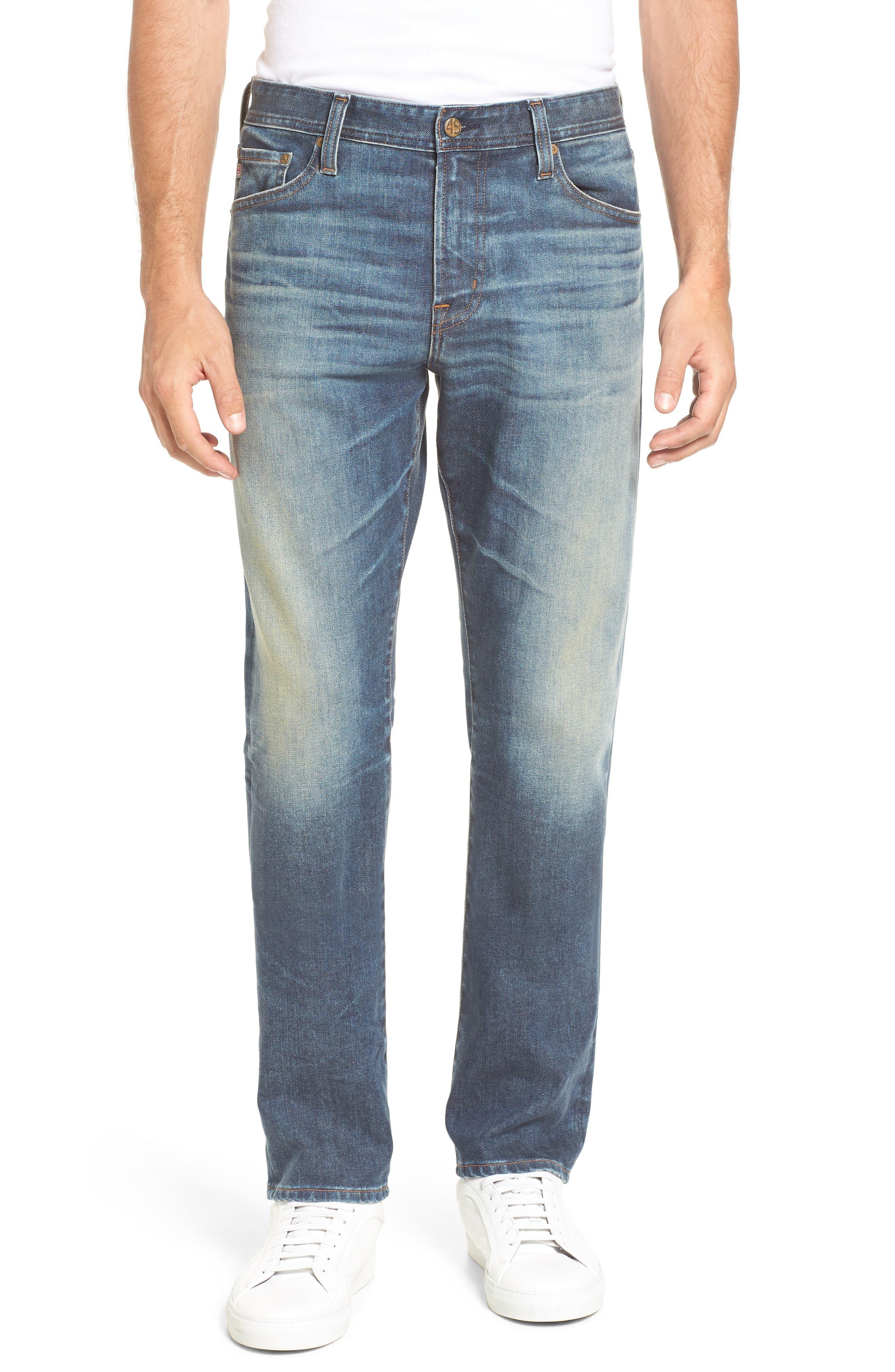 Alternate Image 1 Selected - AG Everett Slim Straight Leg Jeans (12 Years River Veil)