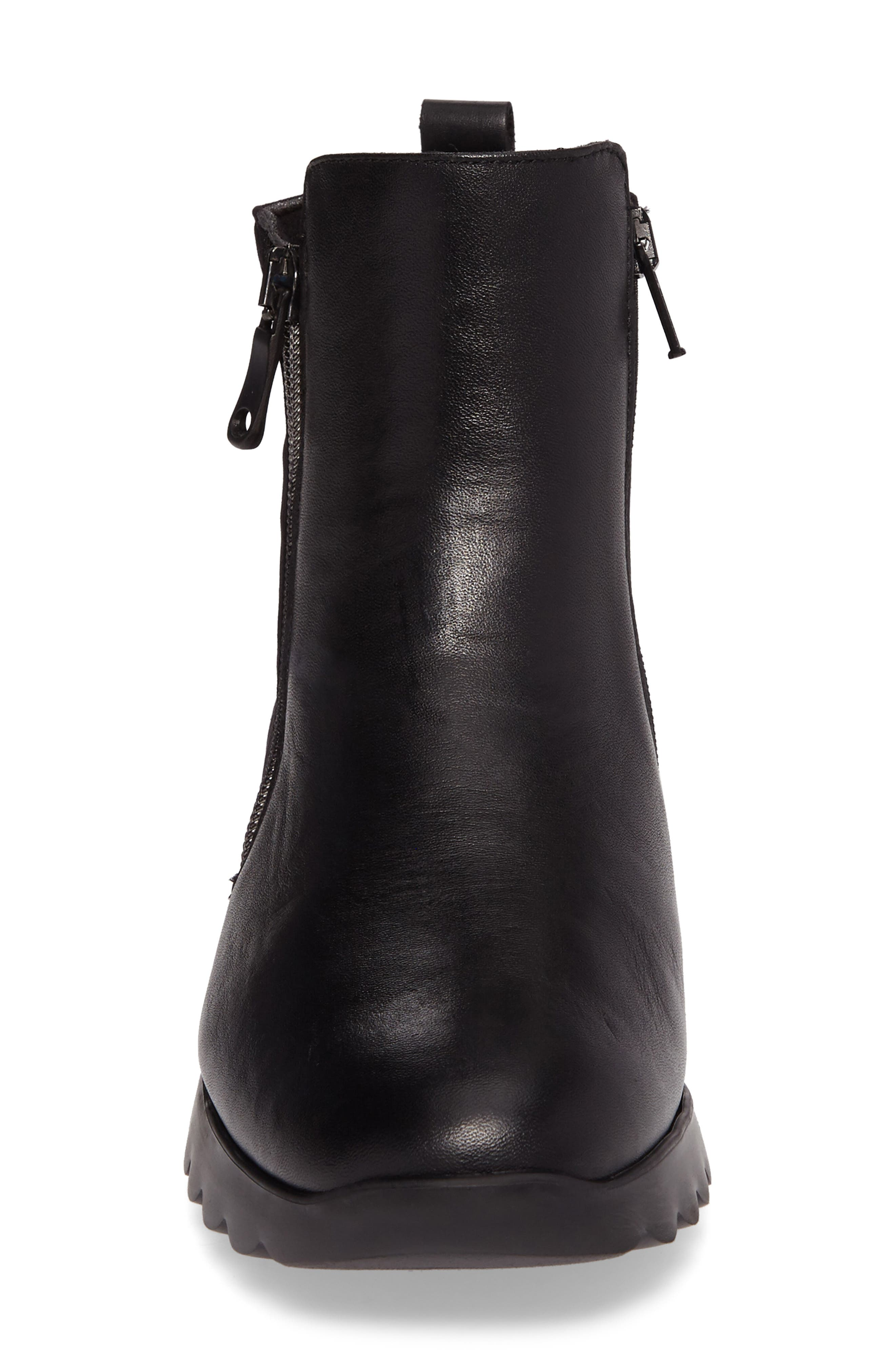 Ashcroft Bootie,                             Alternate thumbnail 4, color,                             Black Leather