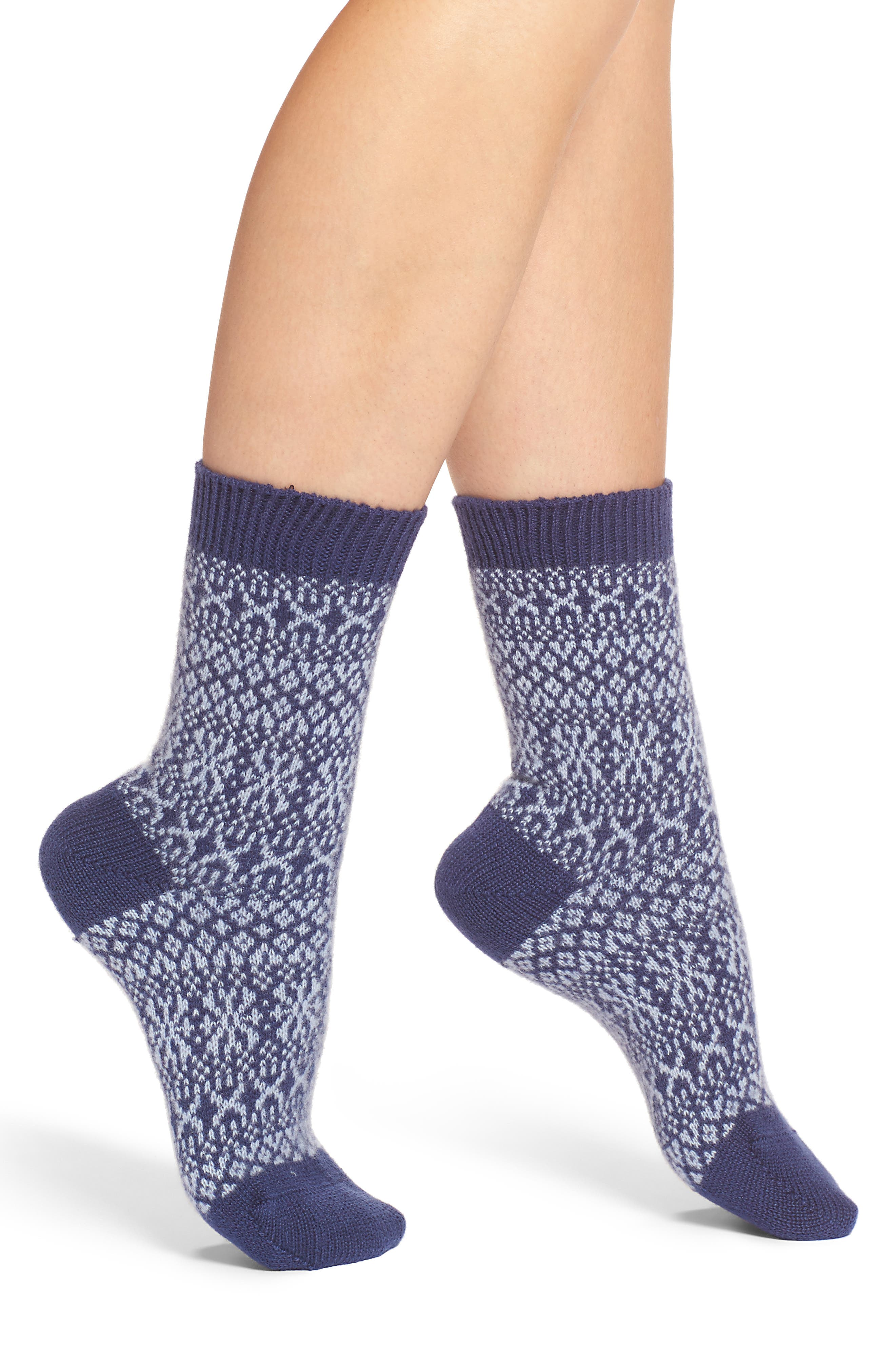 Pantherella Faith Fair Isle Crew Socks
