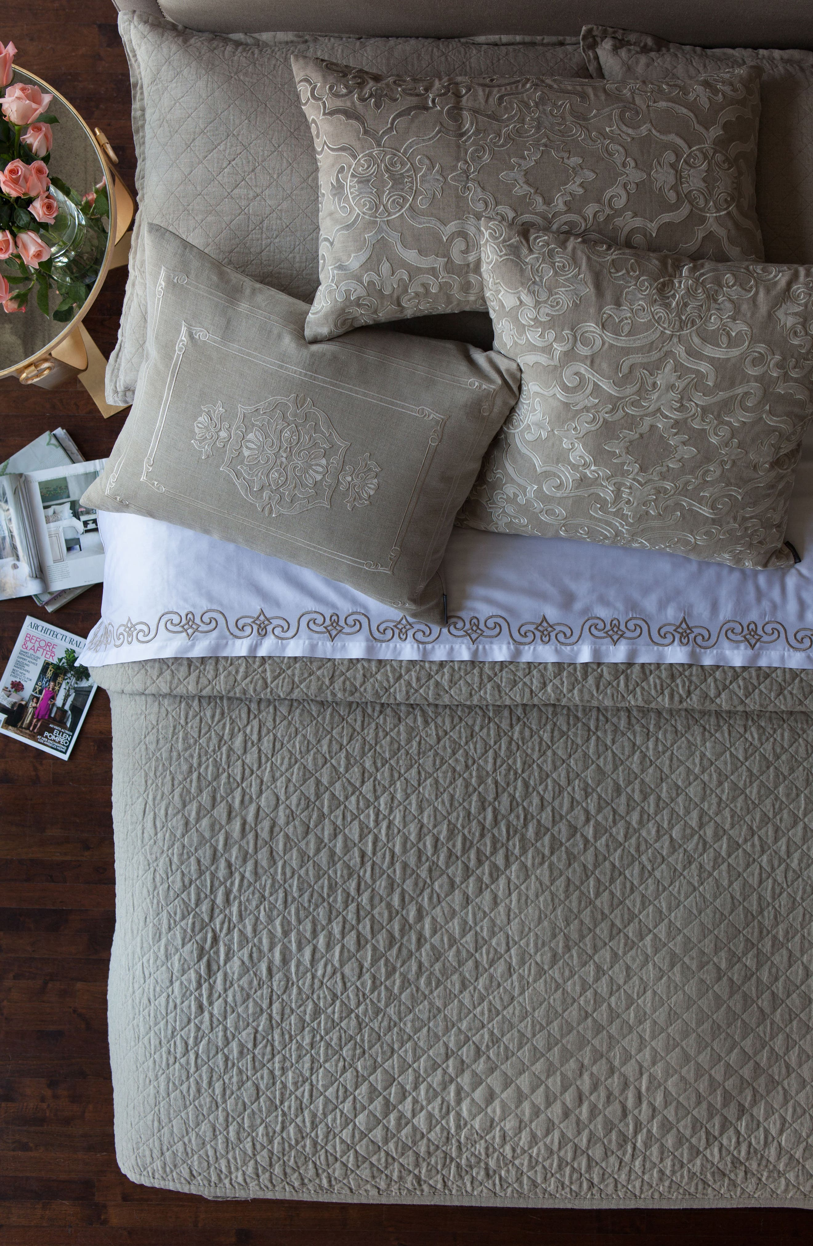 Emily Coverlet,                         Main,                         color, Stone
