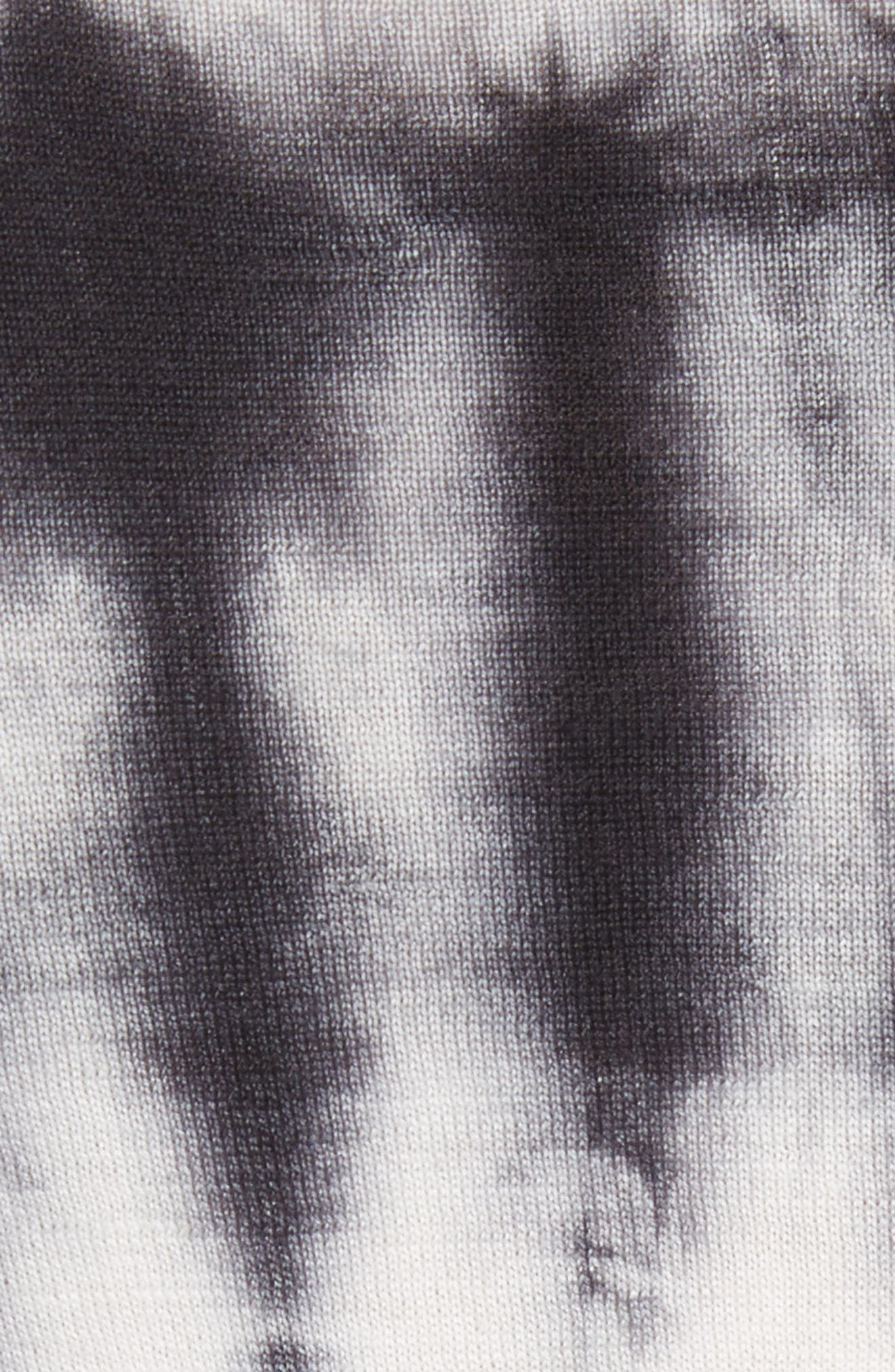 Tie Dye Wool Sweater,                             Alternate thumbnail 5, color,                             Black/ White