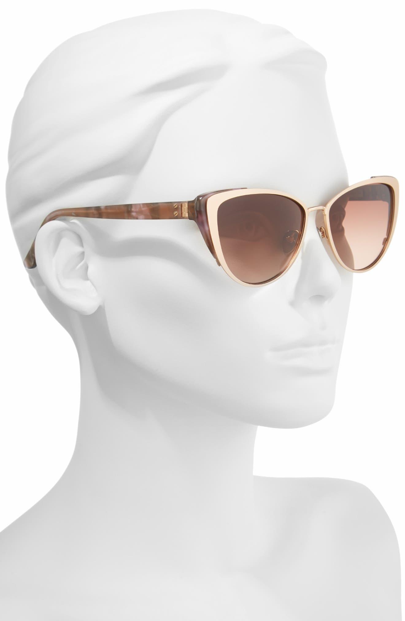 Alternate Image 2  - CALVIN KLEIN 57mm Cat Eye Sunglasses