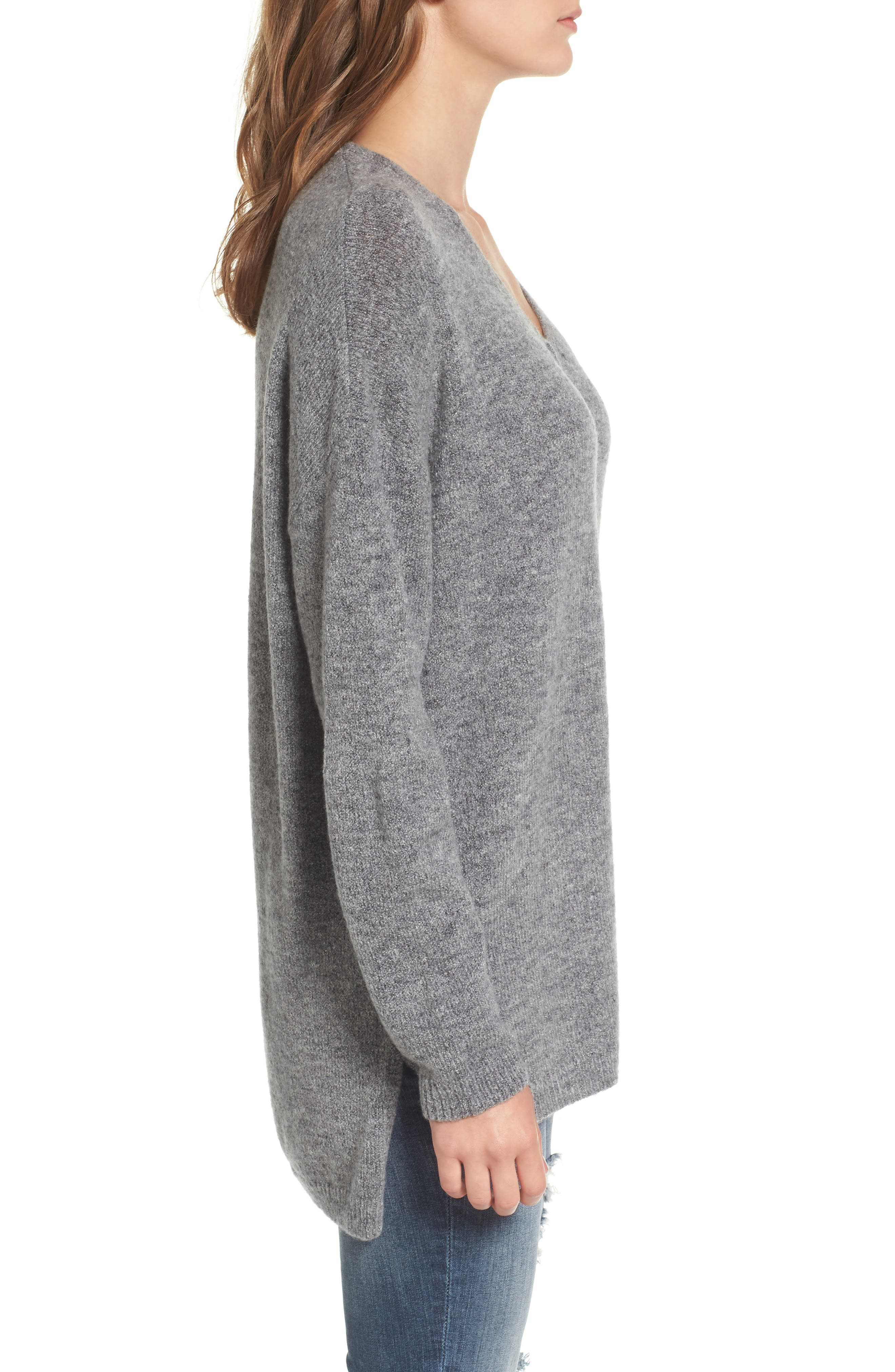 Alternate Image 3  - Dreamers by Debut Exposed Seam Tunic Sweater