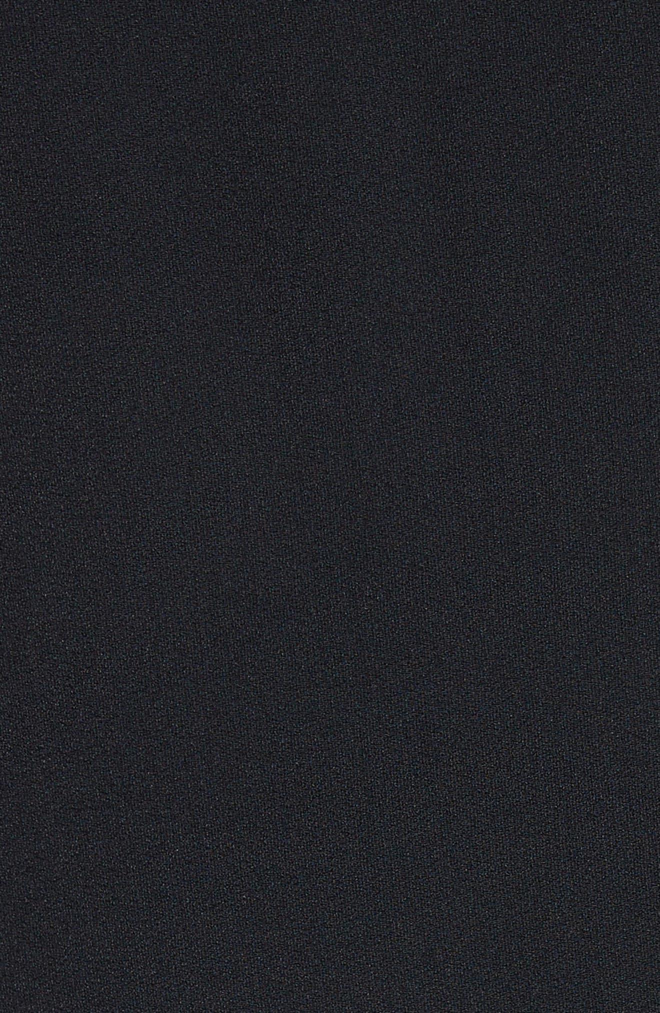 Single Shoulder Satin Back Crepe Blouse,                             Alternate thumbnail 5, color,                             Black