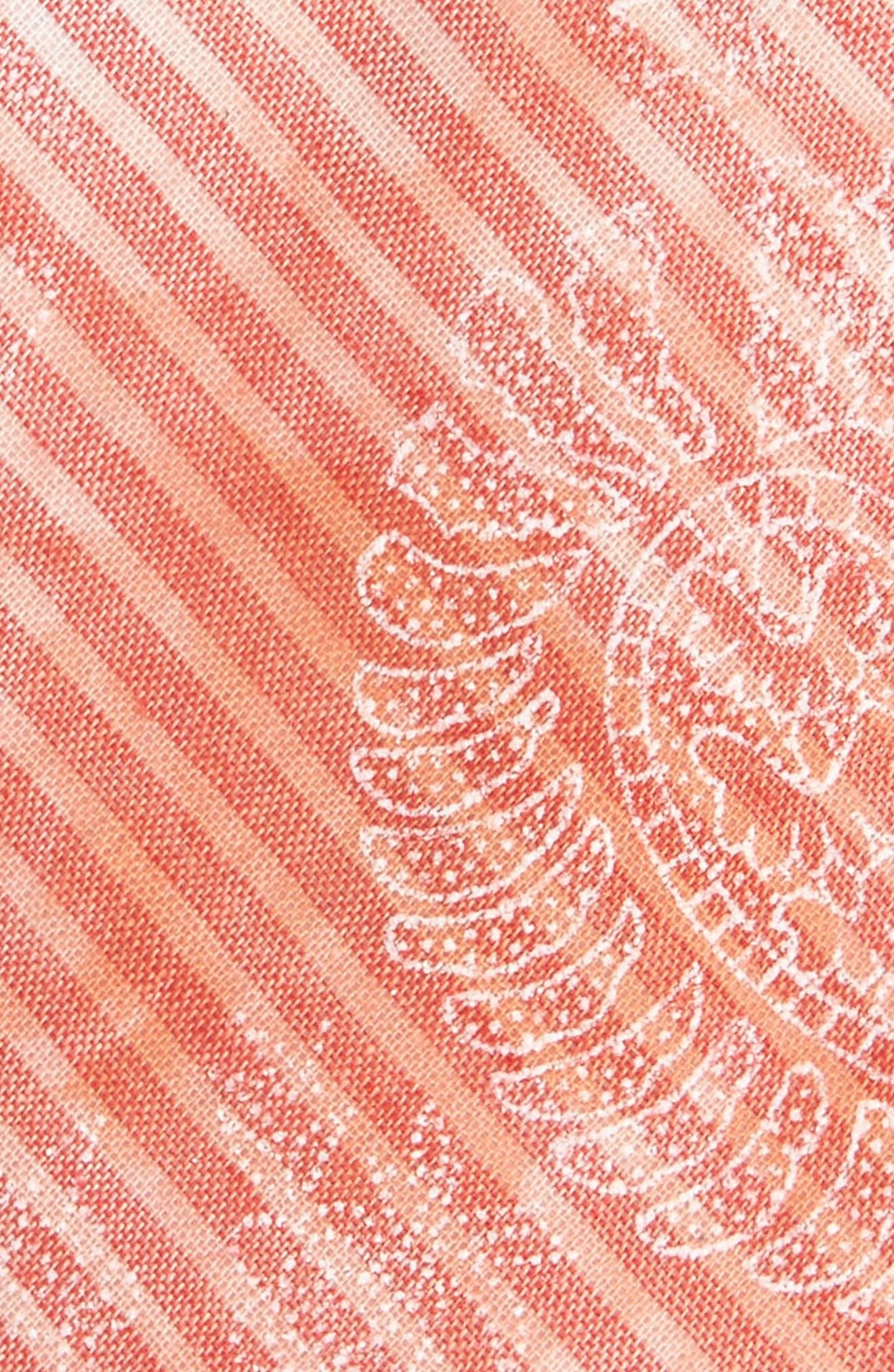 Lee Paisley Cotton Tie,                             Alternate thumbnail 2, color,                             Pink