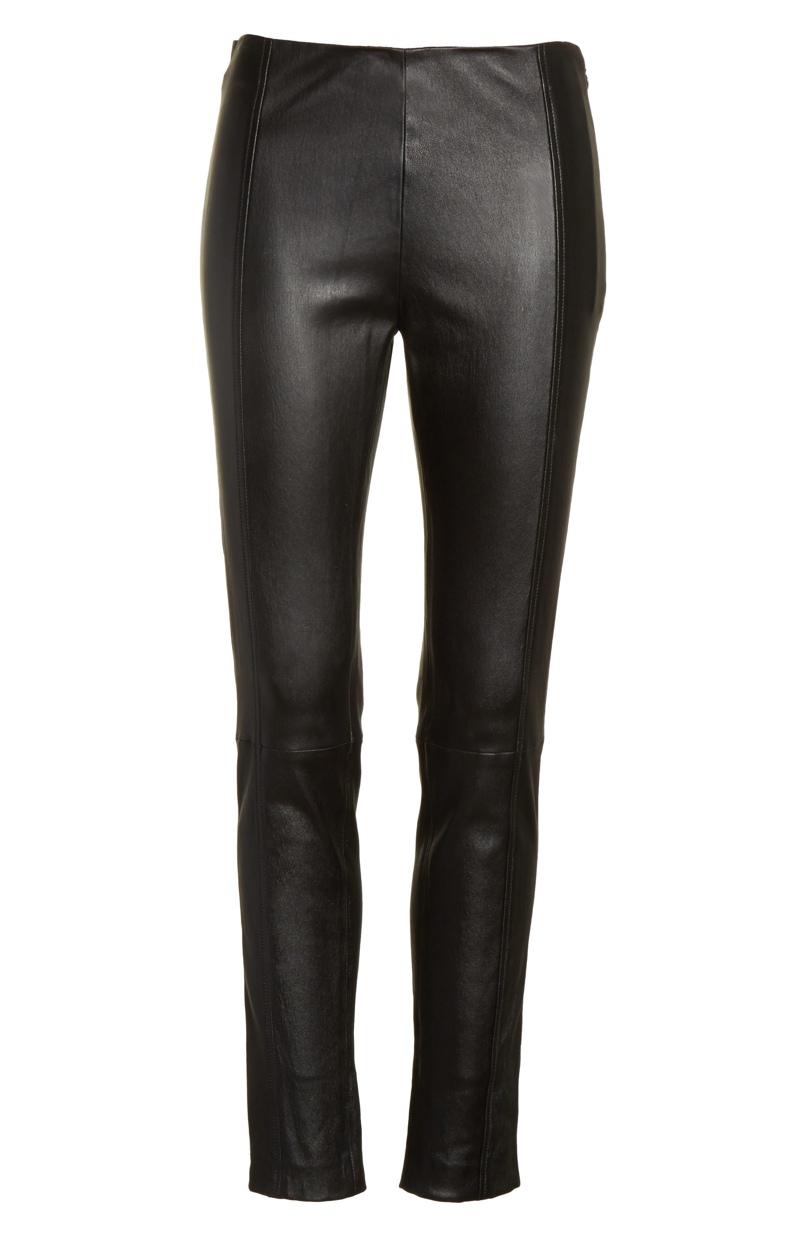 Alternate Image 6  - JOSEPH Stretch Leather Leggings