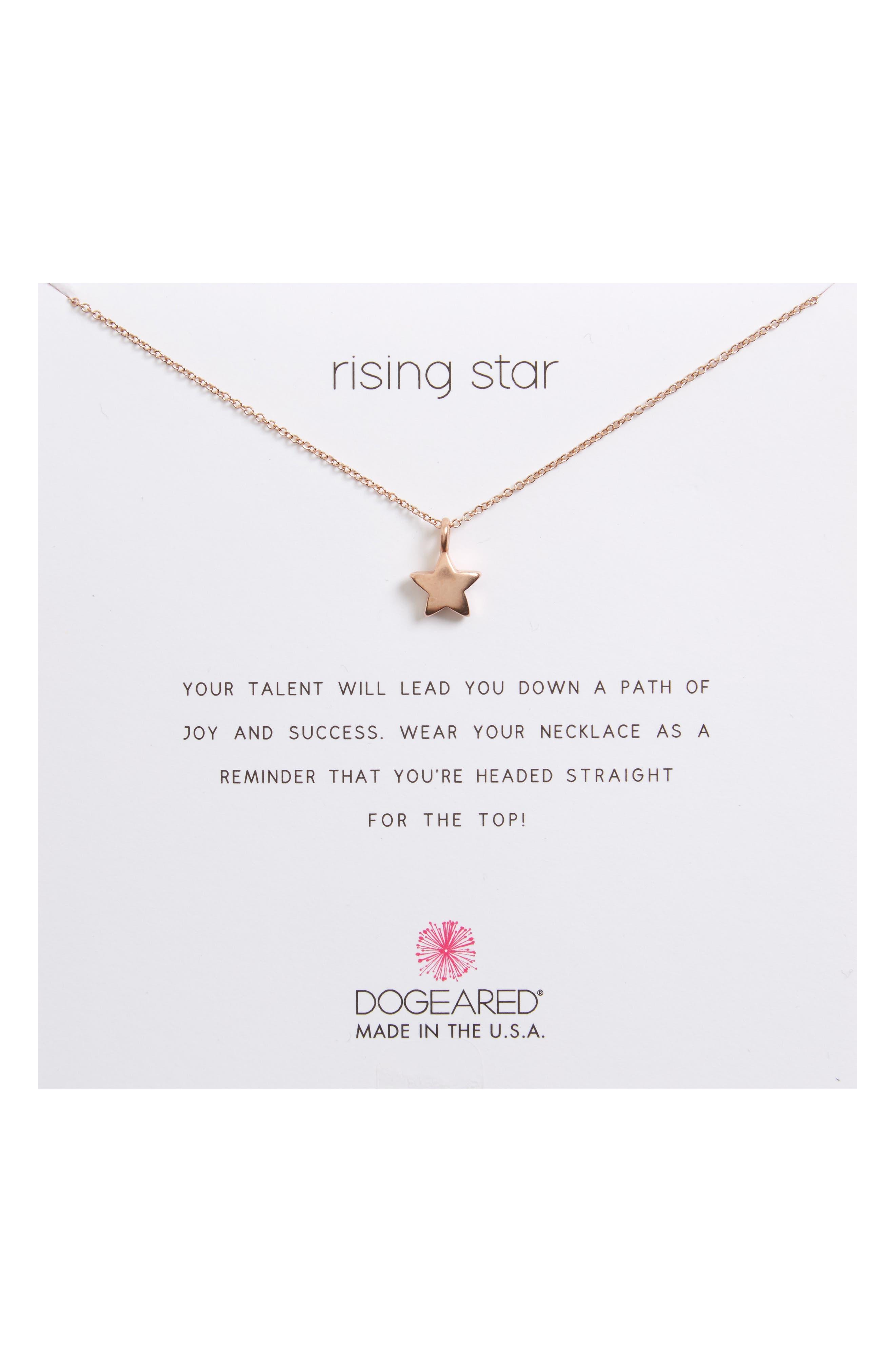 Dogeared Rising Star, Full Star Pendant Necklace