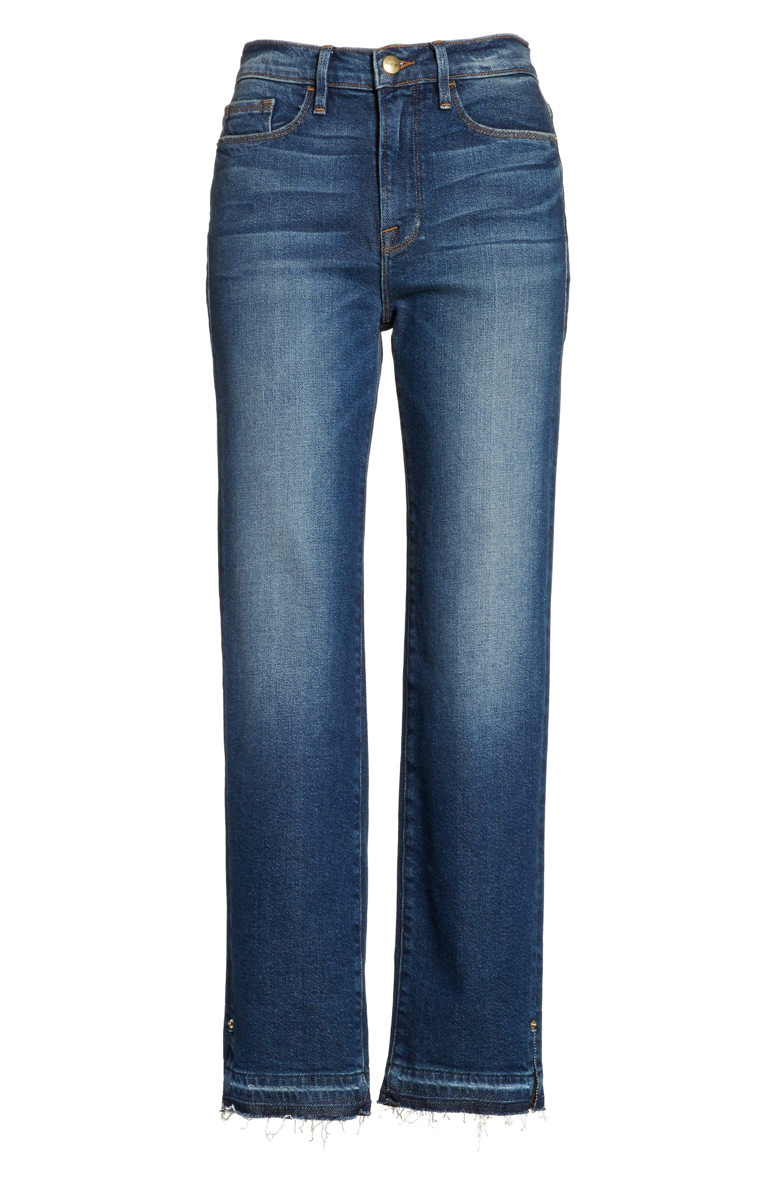 Alternate Image 7  - FRAME High Waist Released Hem Crop Jeans (Granby)