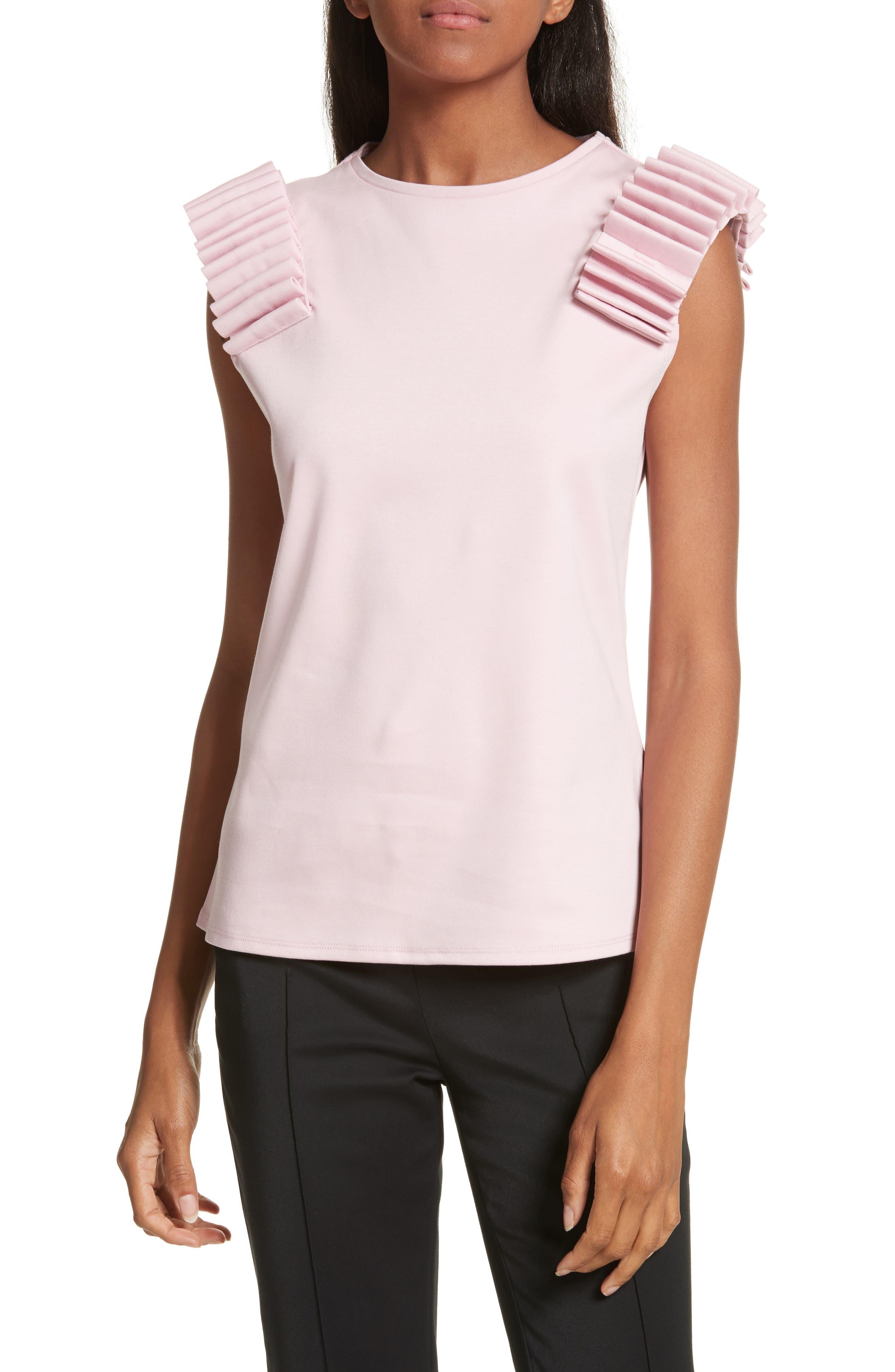 Isana Sculpted Shoulder Top,                         Main,                         color, Pink