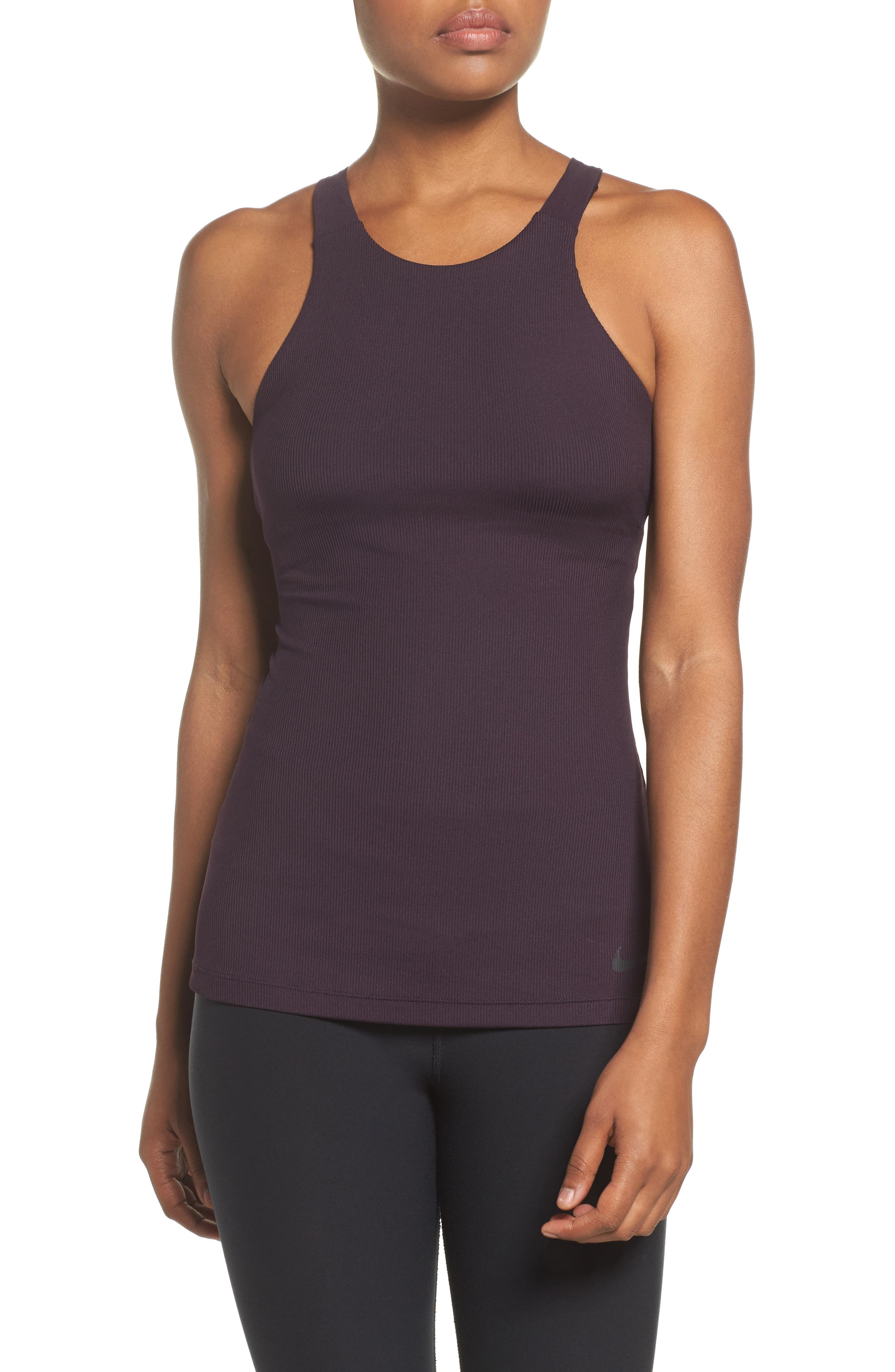 Ribbed Tank,                             Main thumbnail 1, color,                             Port Wine/ Wine/ Red/ Wine