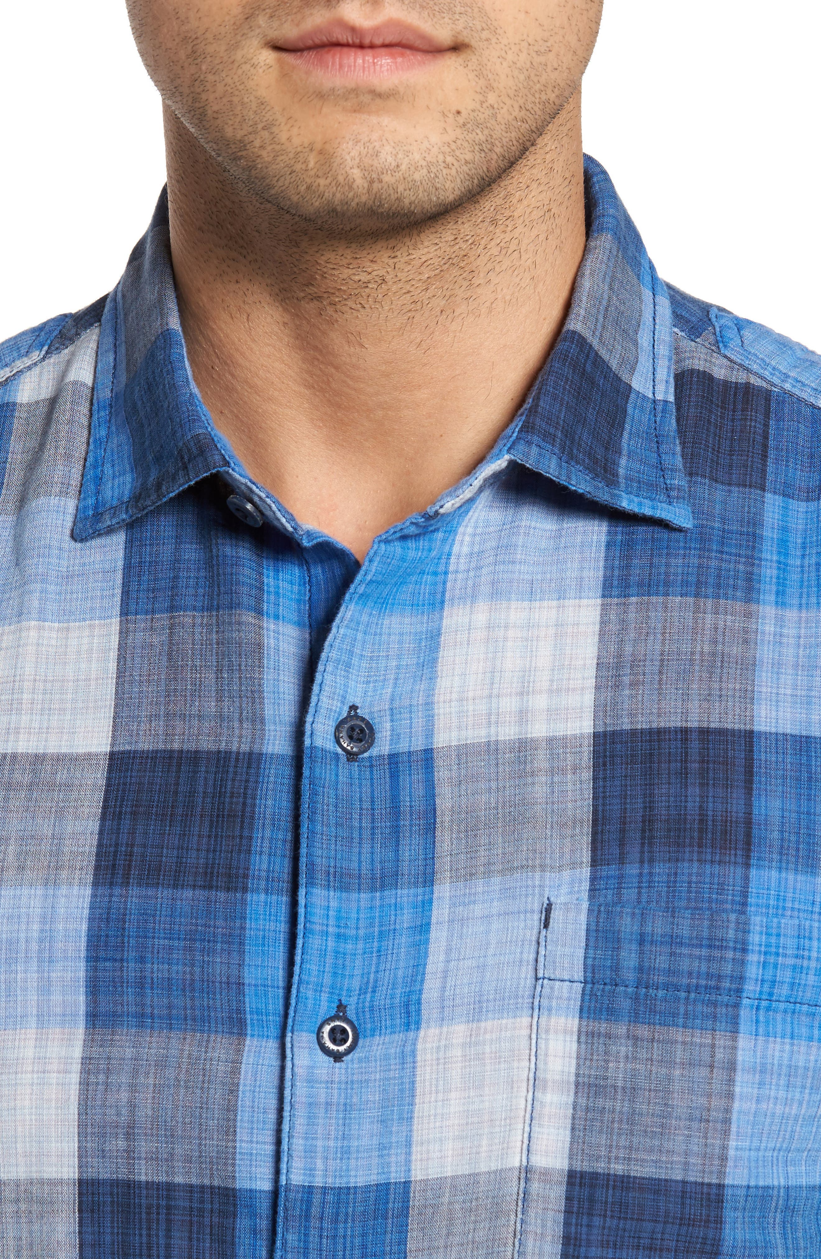 Alternate Image 4  - Tommy Bahama Dual Lux Check Sport Shirt