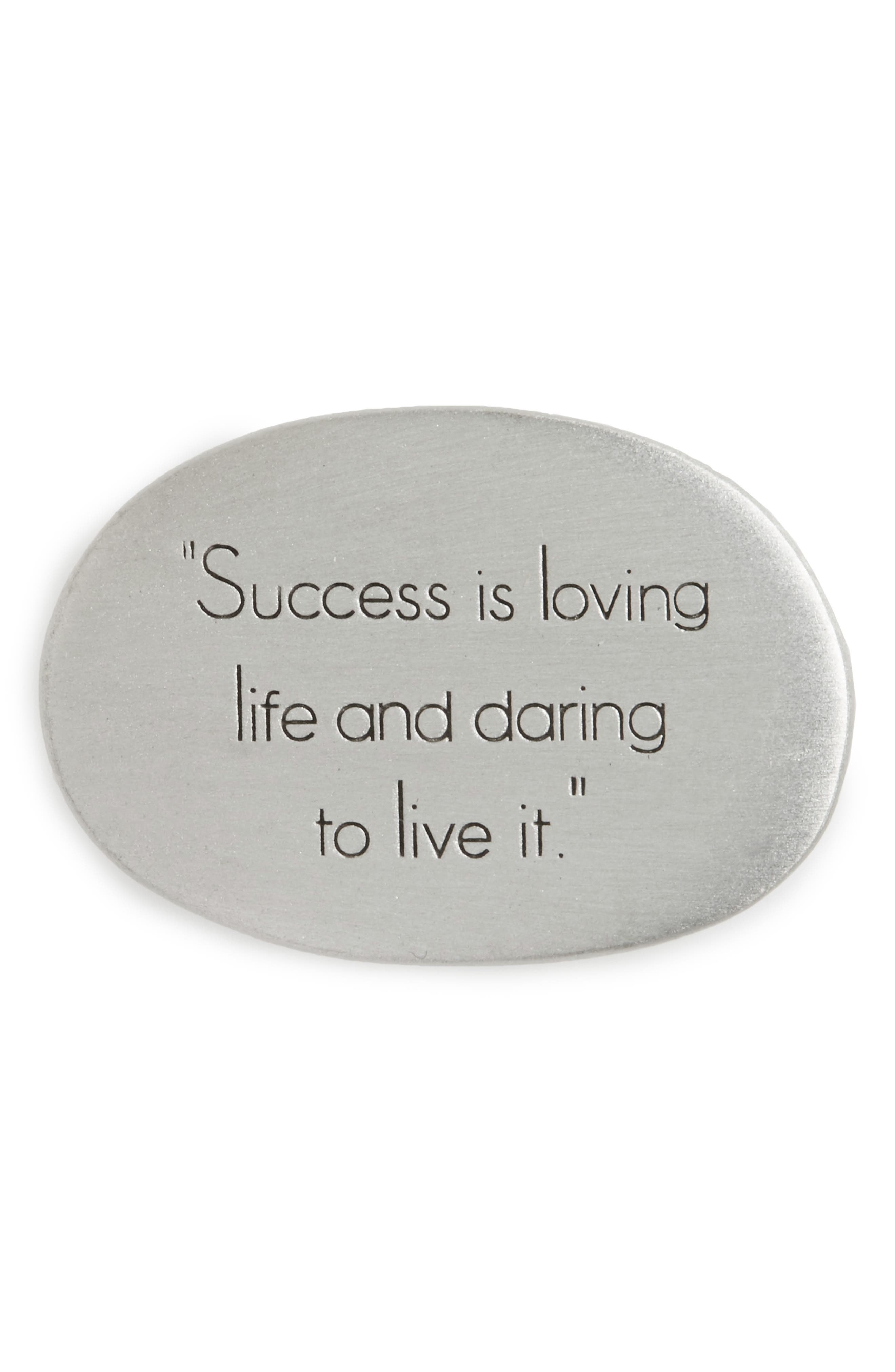 Dogeared Legacy - Success Is Loving Pocket Stone