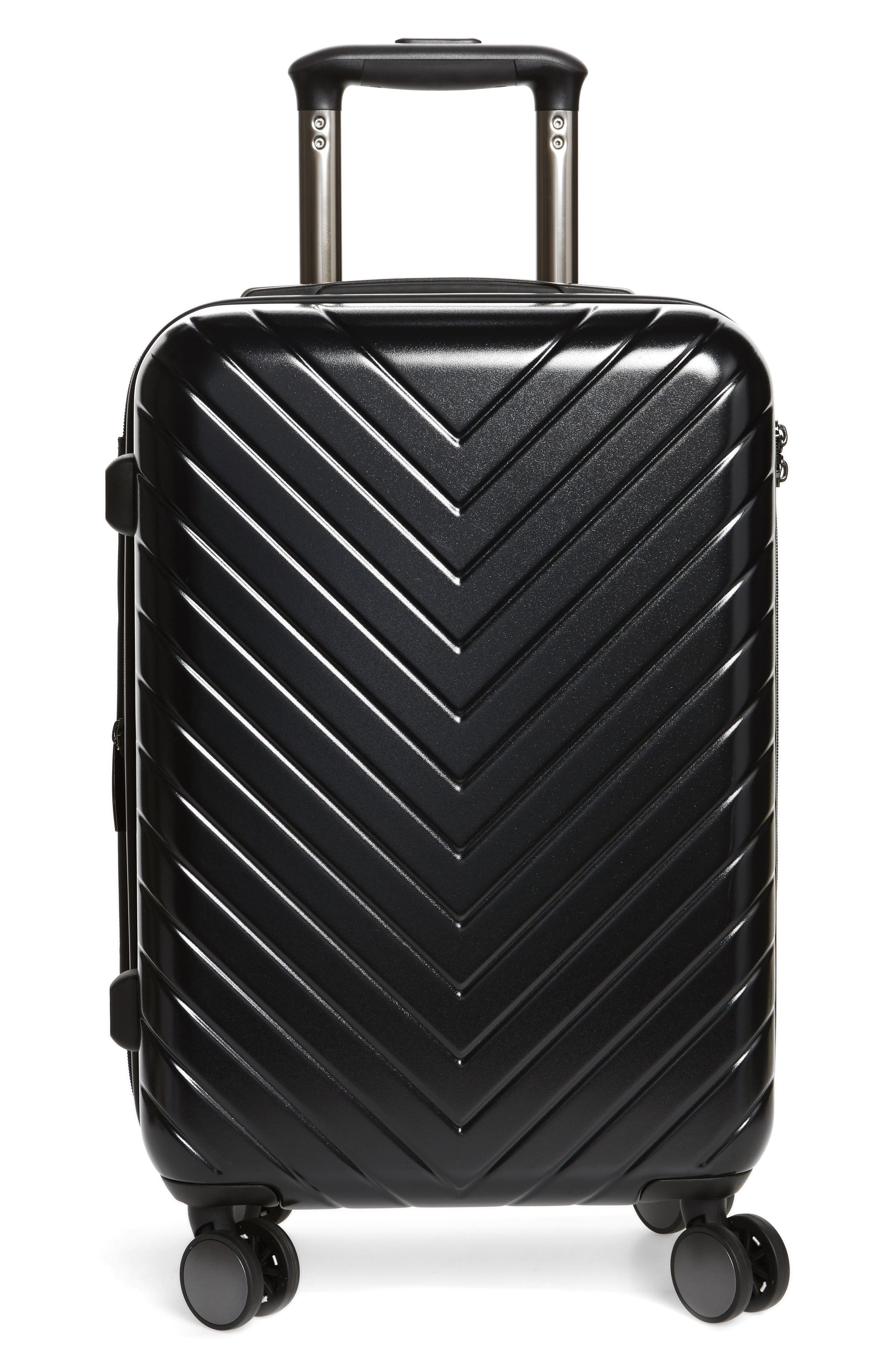 Nordstrom Chevron Spinner Carry-On Suitcase