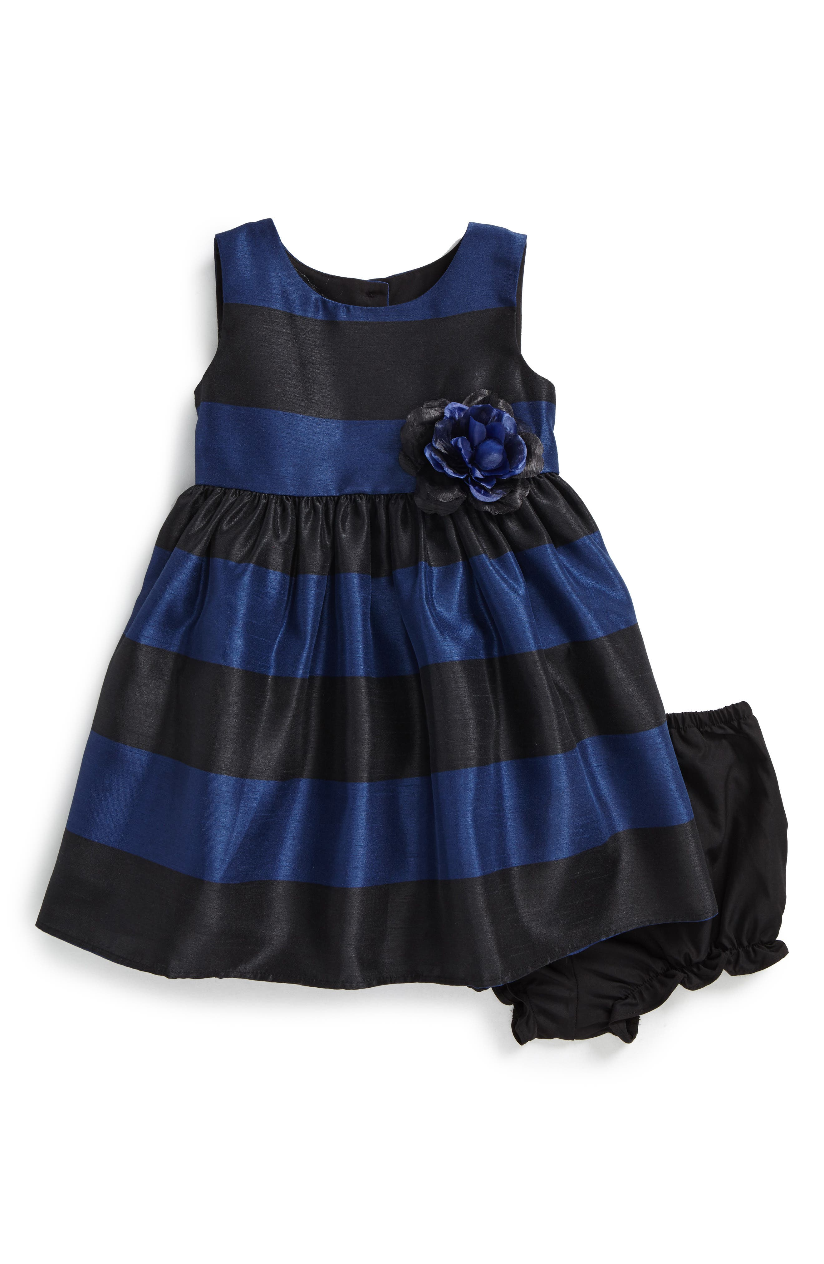 Main Image - Frais Stripe Party Dress (Baby Girls)
