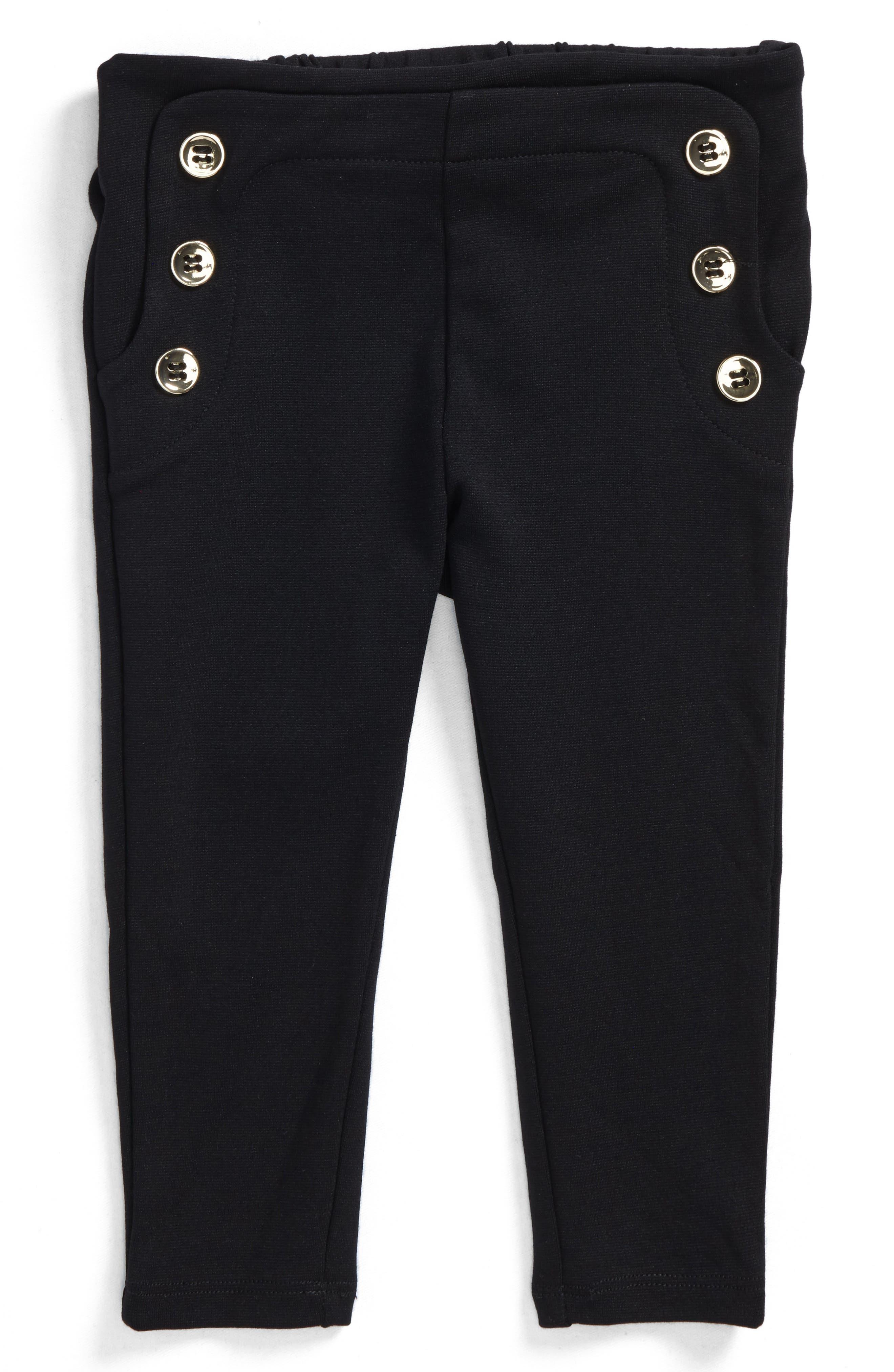 Button Leggings,                         Main,                         color, Black