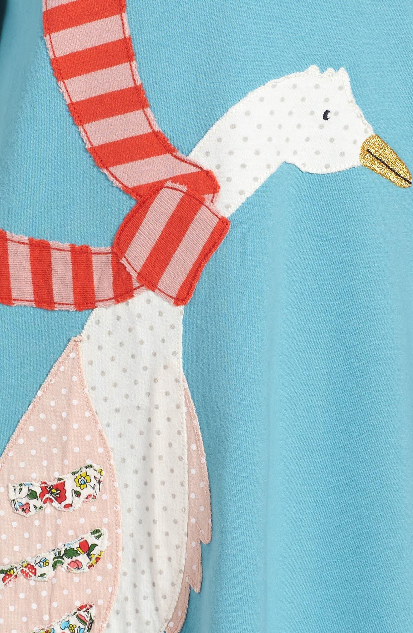Big Appliqué Jersey Dress,                             Alternate thumbnail 3, color,                             Frost Blue Duck