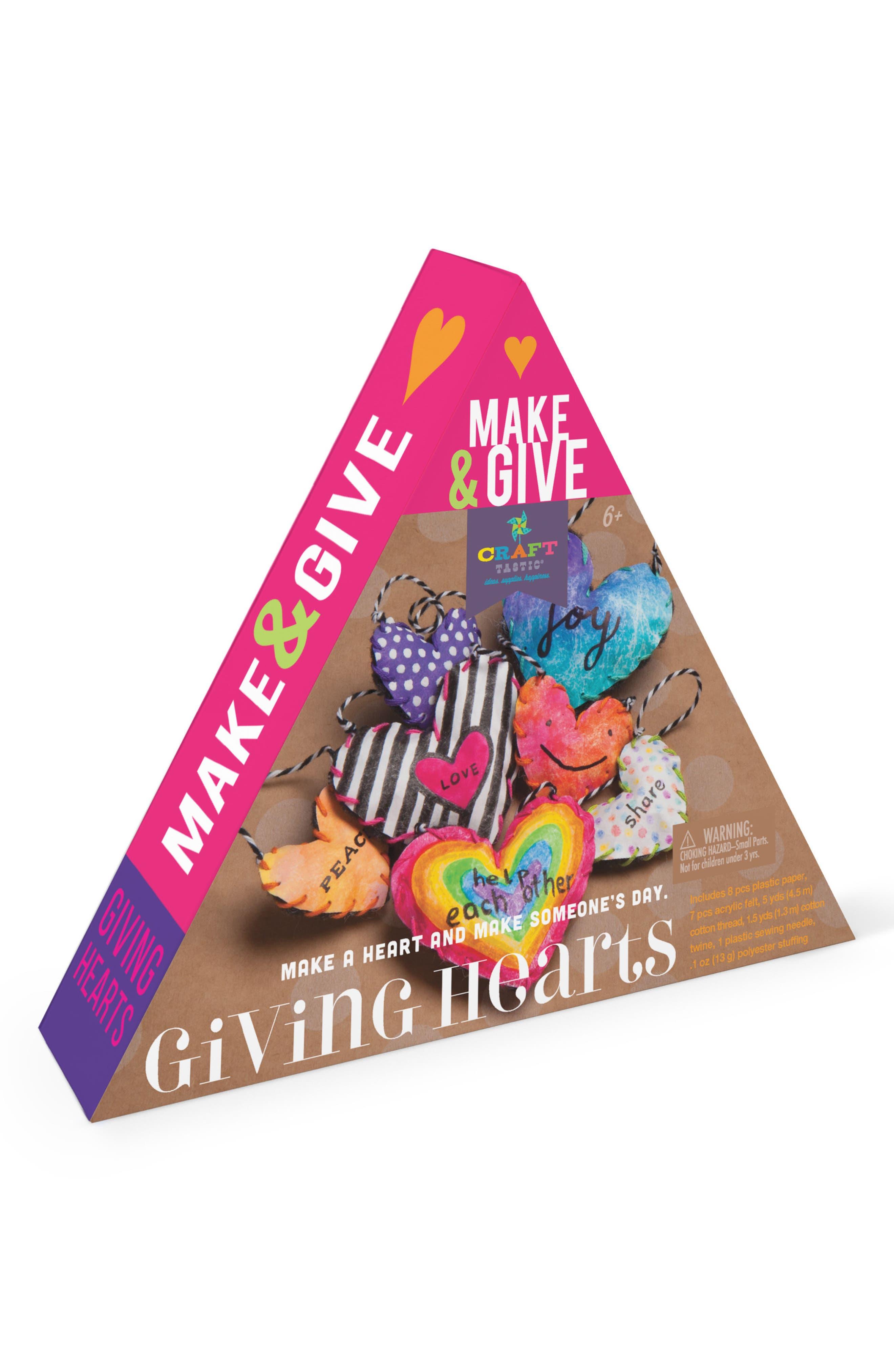 Make & Give Giving Hearts Craft Kit,                             Alternate thumbnail 2, color,                             White