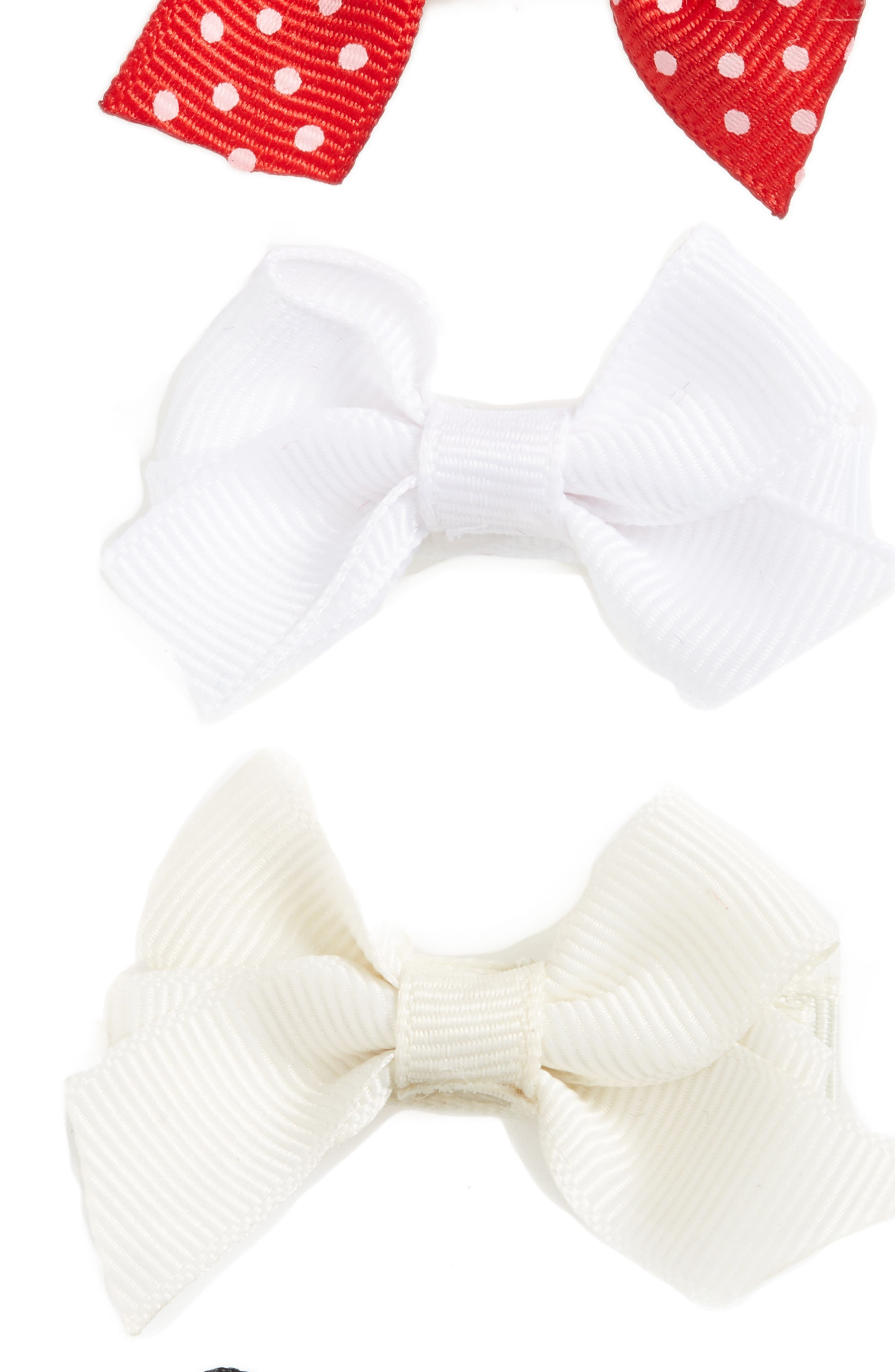 Alternate Image 3  - PLH Bows & Laces Bow Clips (Set of 4) (Baby Girls)