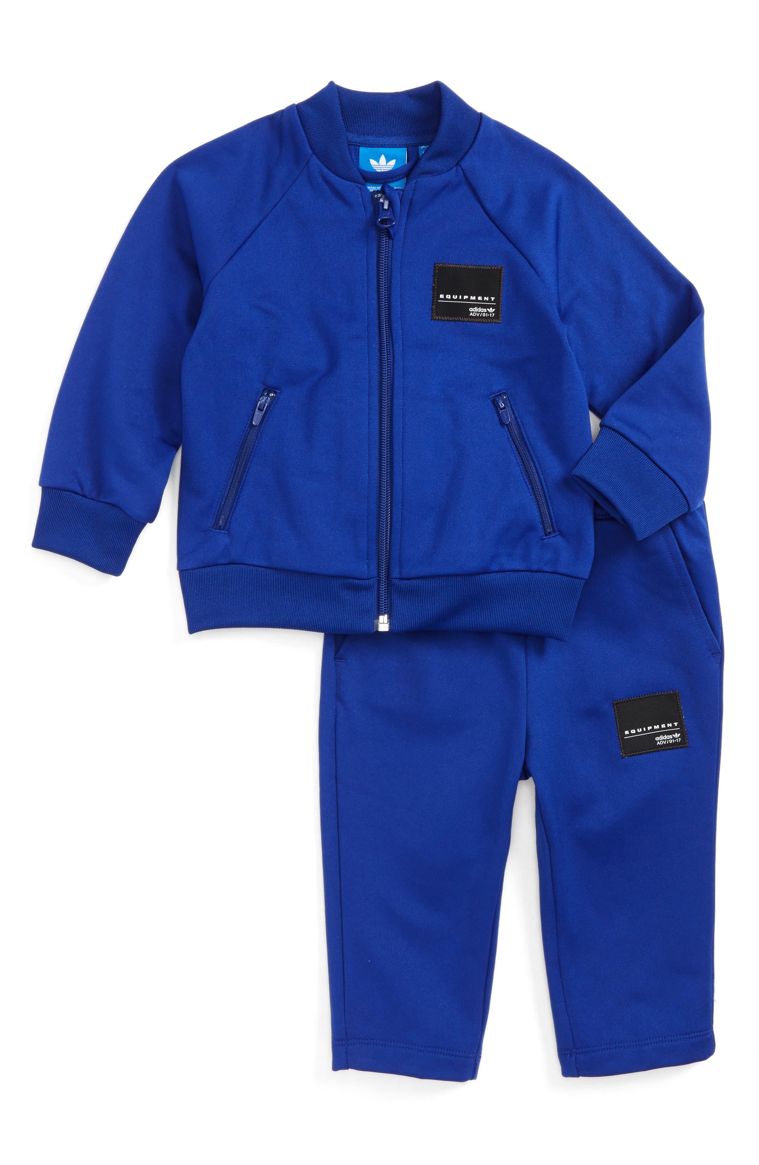 EQT Superstar Jacket & Pants Set,                         Main,                         color, Mystery Ink/ White