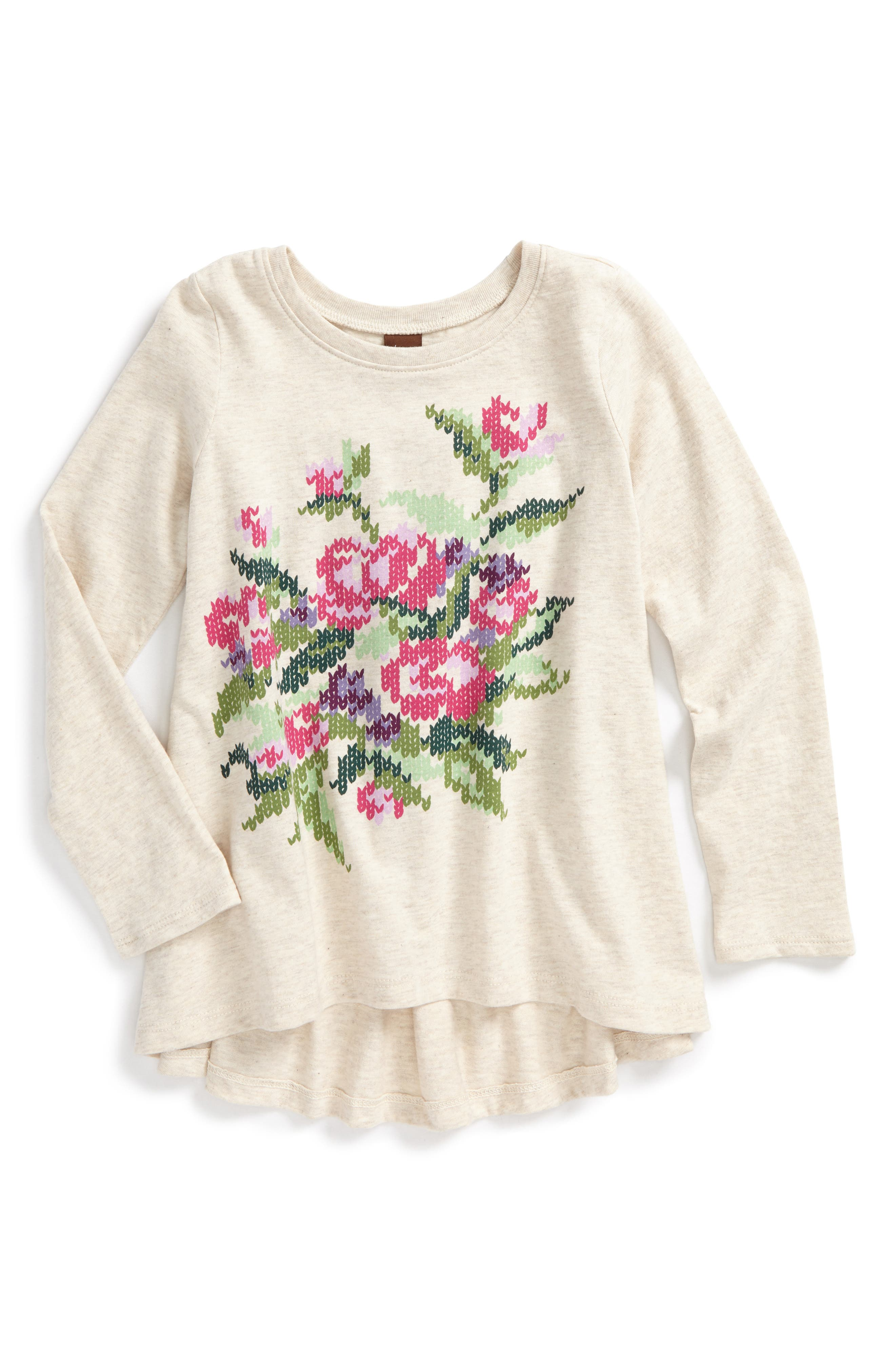 Tea Collection Sweet Pea High/Low Tee (Toddler Girls, Little Girls & Big Girls)