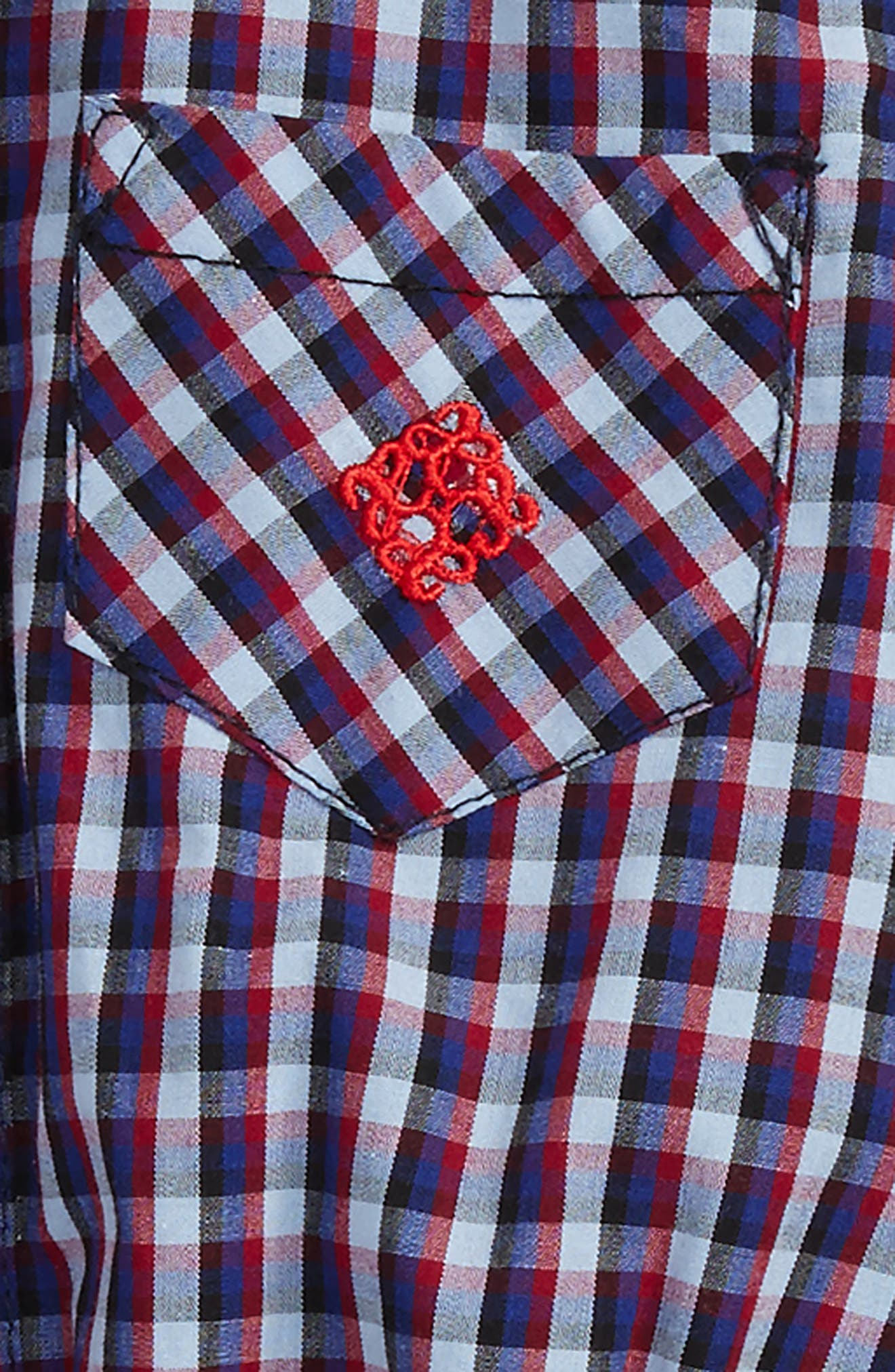 Alternate Image 2  - Andy & Evan Shirtzie Check Bodysuit & Pants Set (Baby Boys)