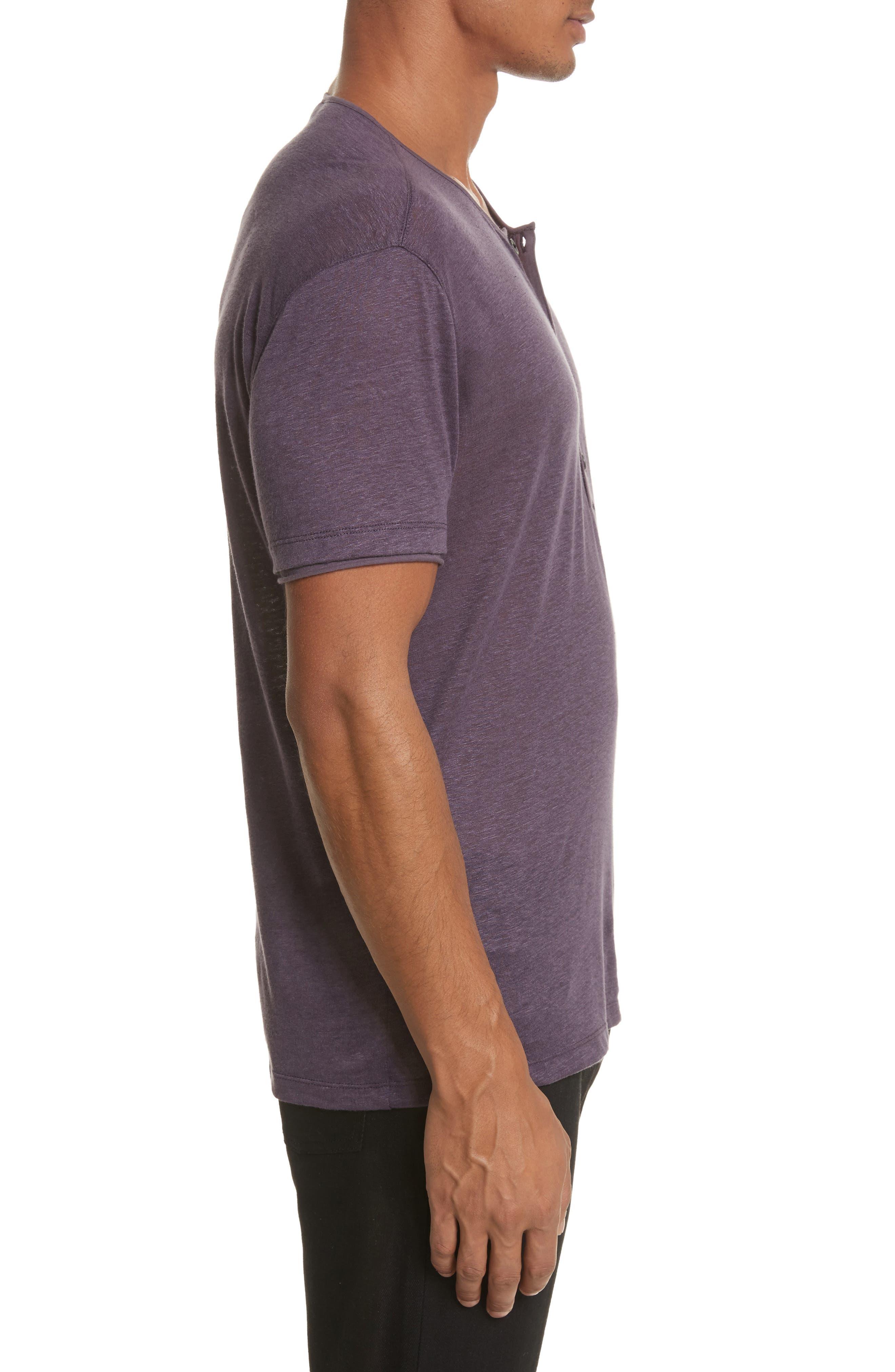 Alternate Image 3  - John Varvatos Collection Linen Henley T-Shirt