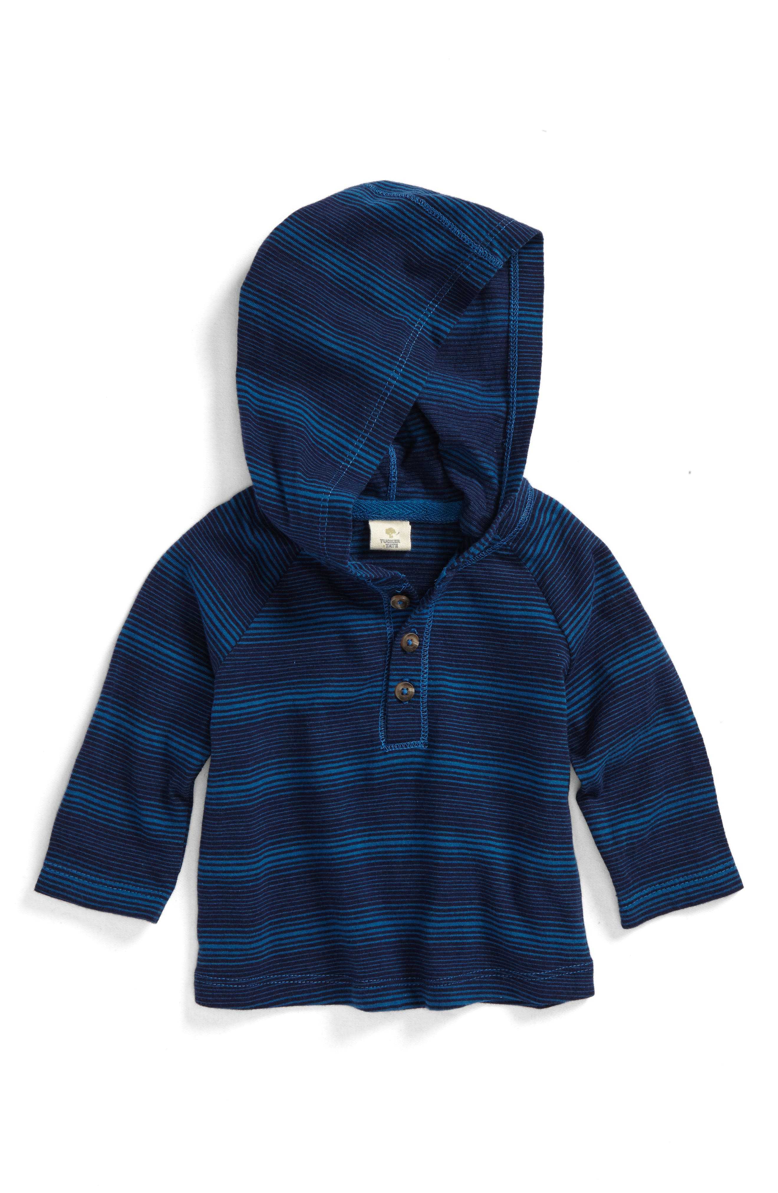 Hooded Henley,                         Main,                         color, Navy Midnight- Blue