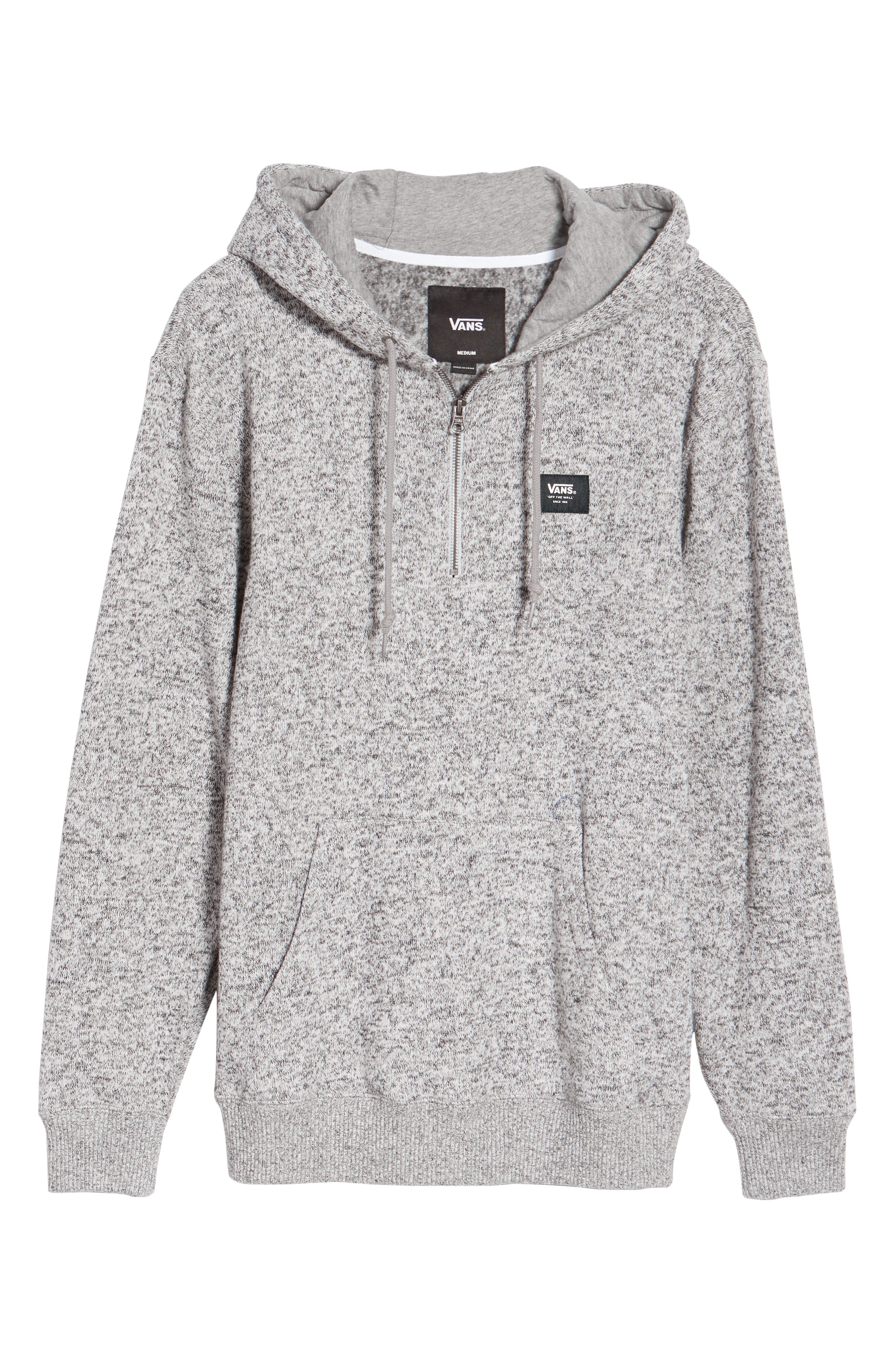 Flurry Half Zip Hoodie,                             Alternate thumbnail 6, color,                             Lunar Rock Heather