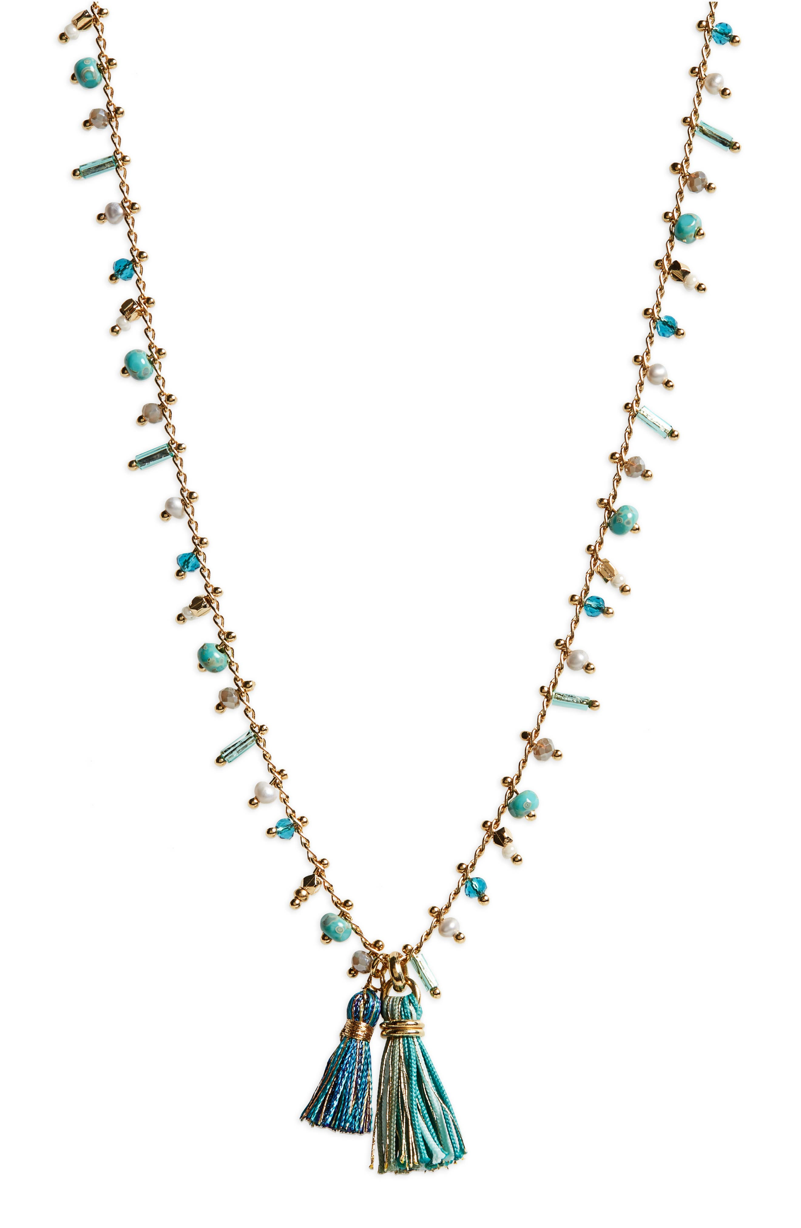 Gas Bijoux Beaded Tassel Necklace
