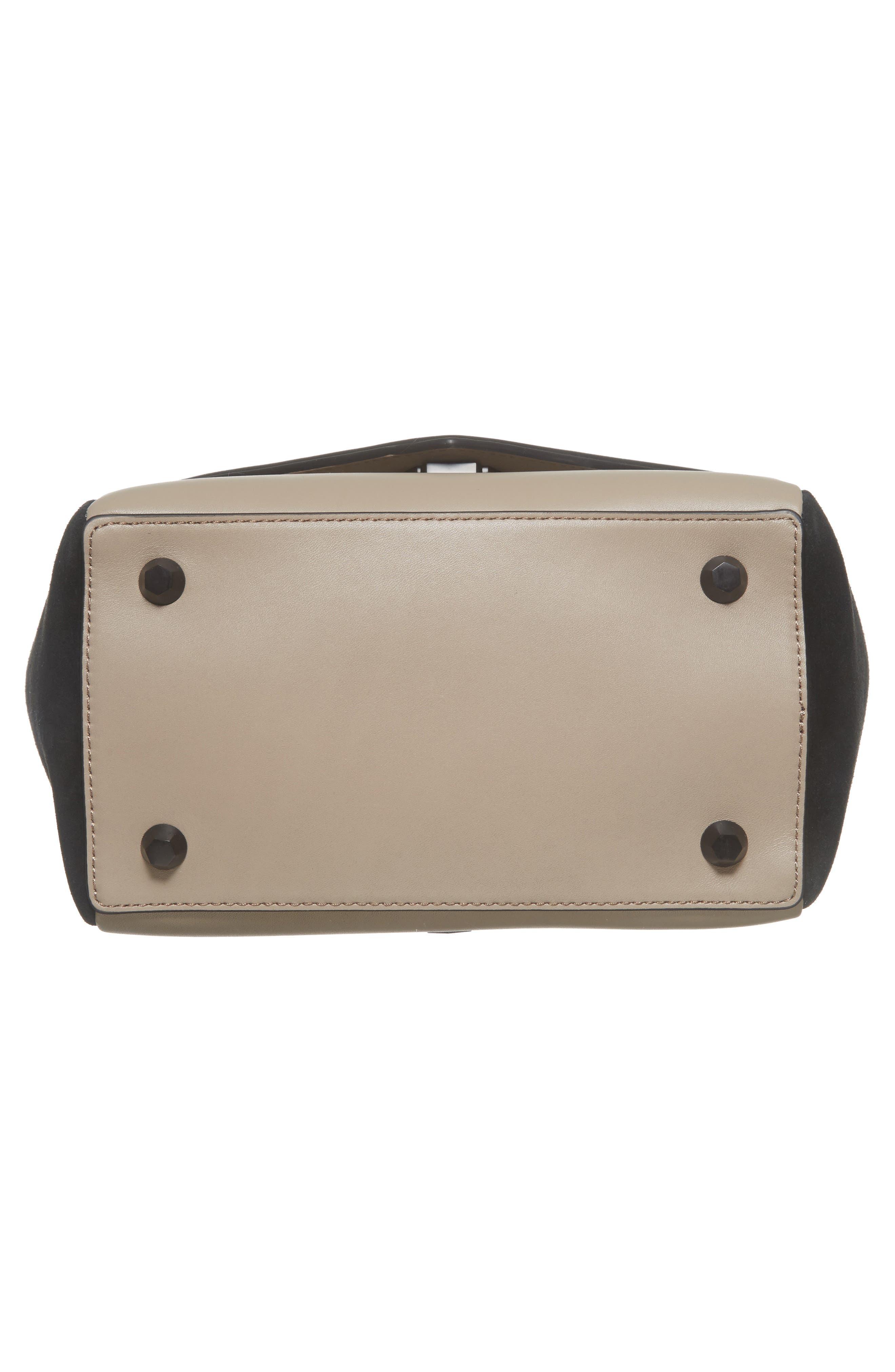 Alternate Image 5  - WELDEN Small Saunter Colorblocked Leather & Suede Top Handle Satchel